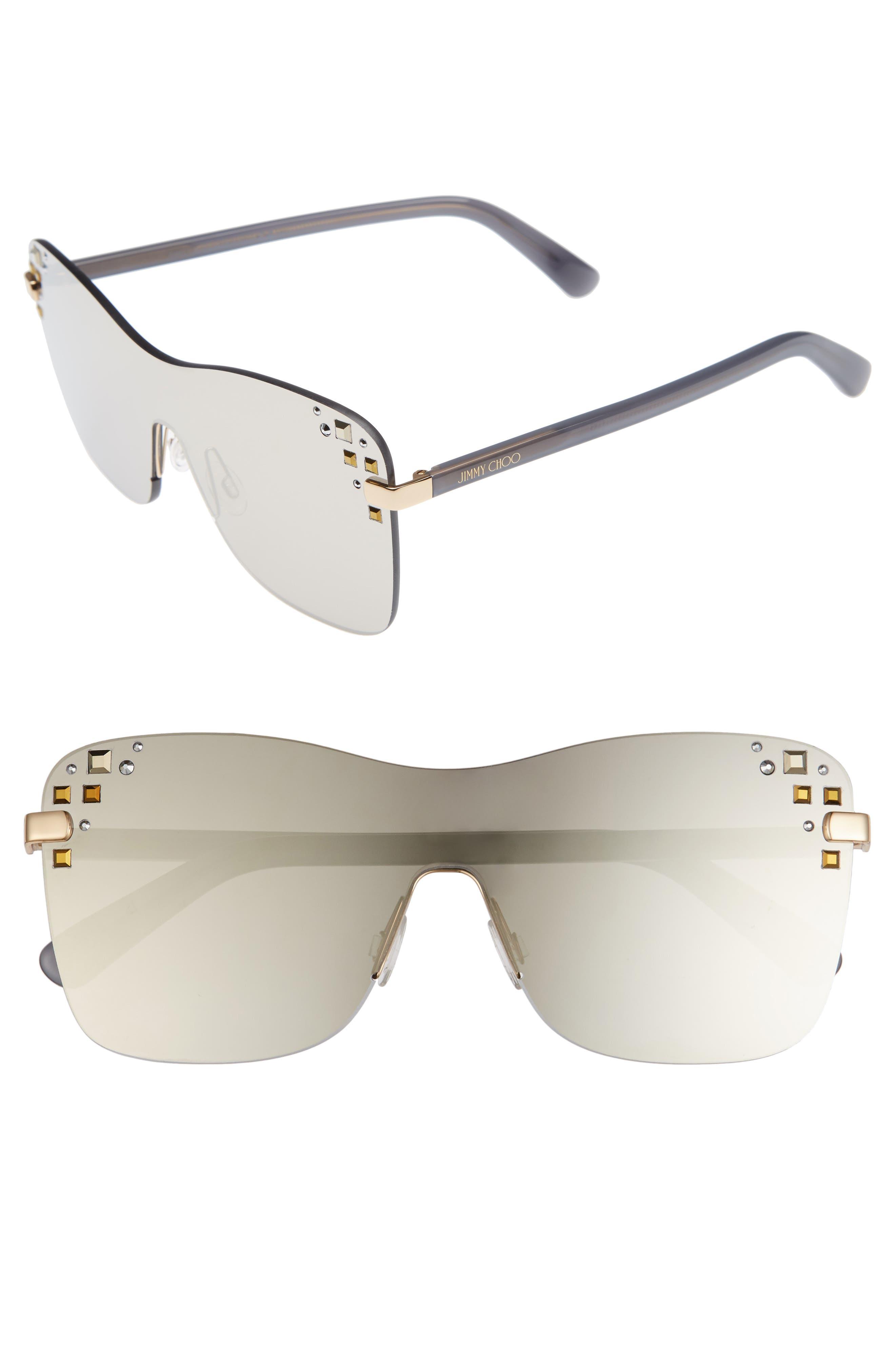 Masks 63mm Rimless Shield Sunglasses,                             Main thumbnail 2, color,