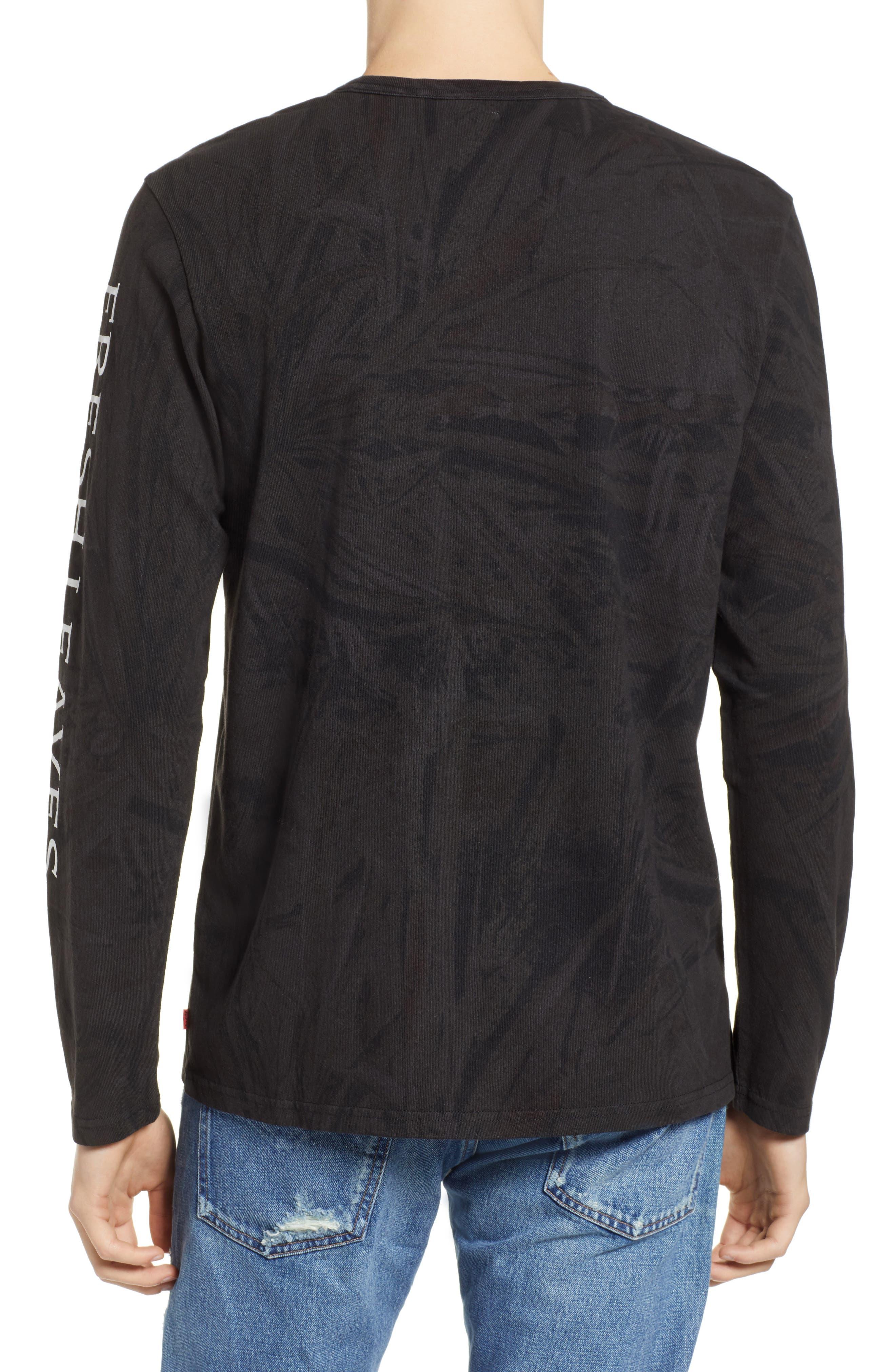x Justin Timberlake Camo Long Sleeve T-Shirt,                             Alternate thumbnail 3, color,                             BLACK