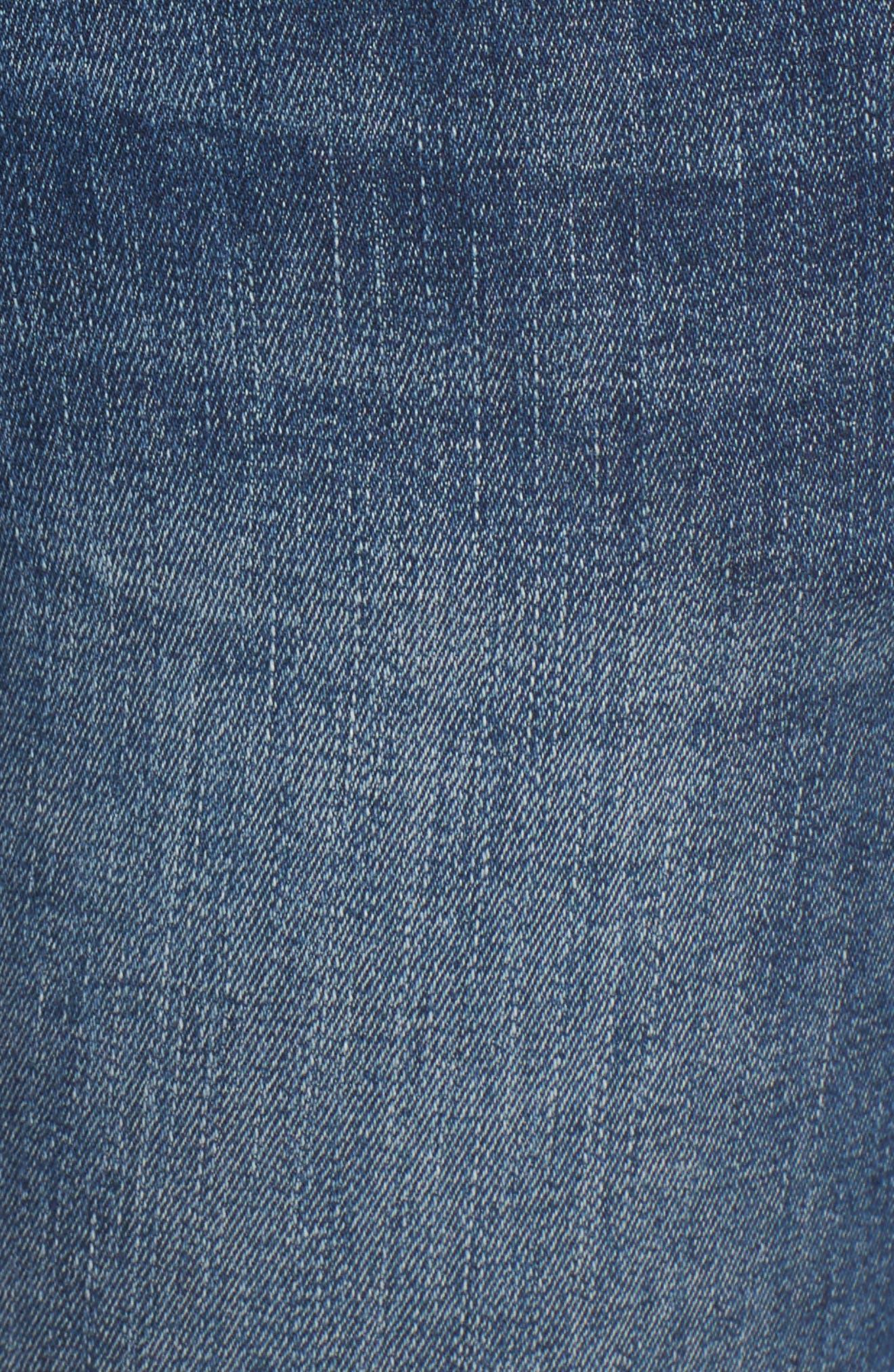 Florence Instasculpt Crop Skinny Jeans,                             Alternate thumbnail 6, color,                             EVERGLADE