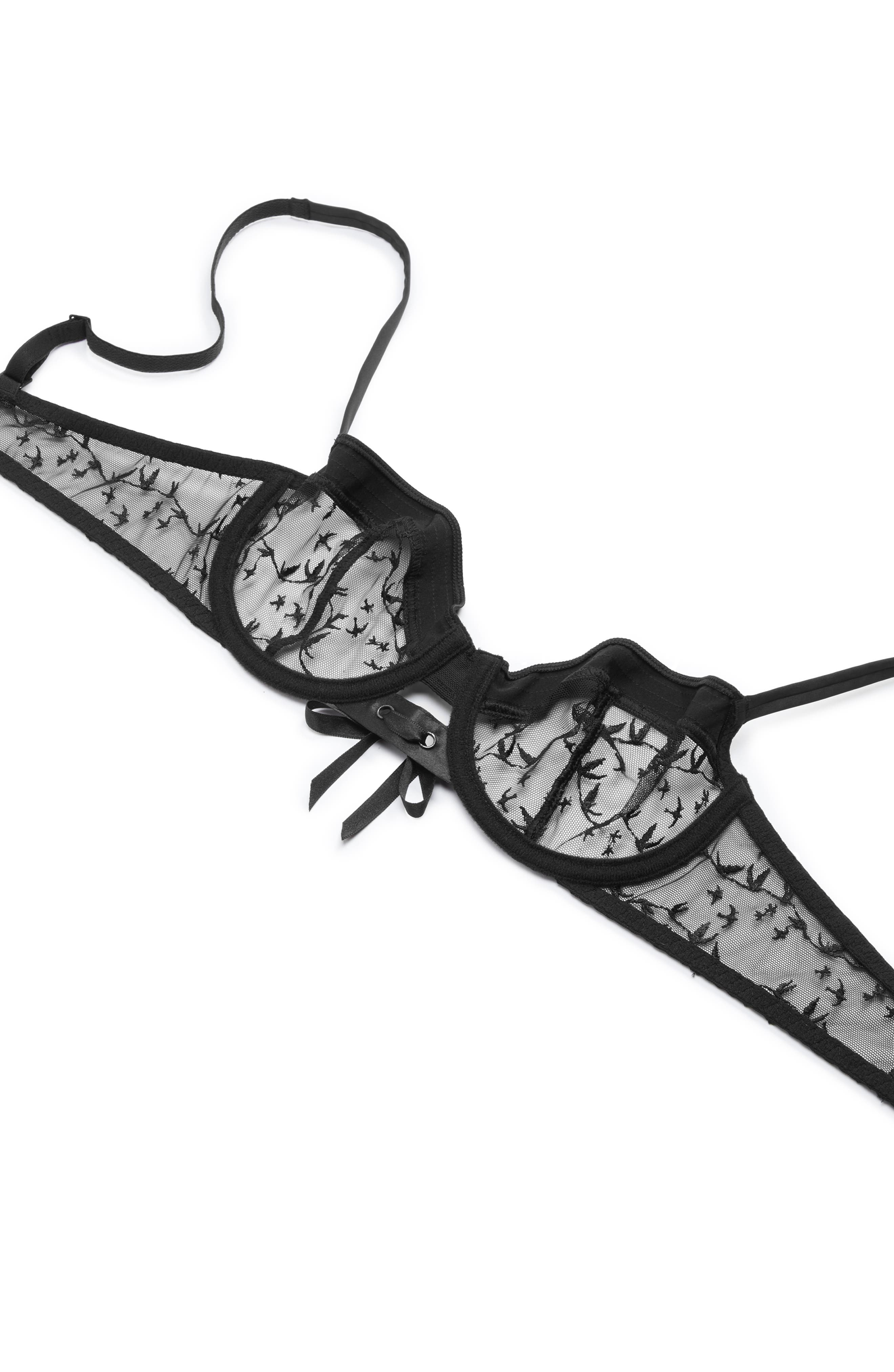 1948 Underwire Demi Bra,                             Alternate thumbnail 5, color,                             BLACK