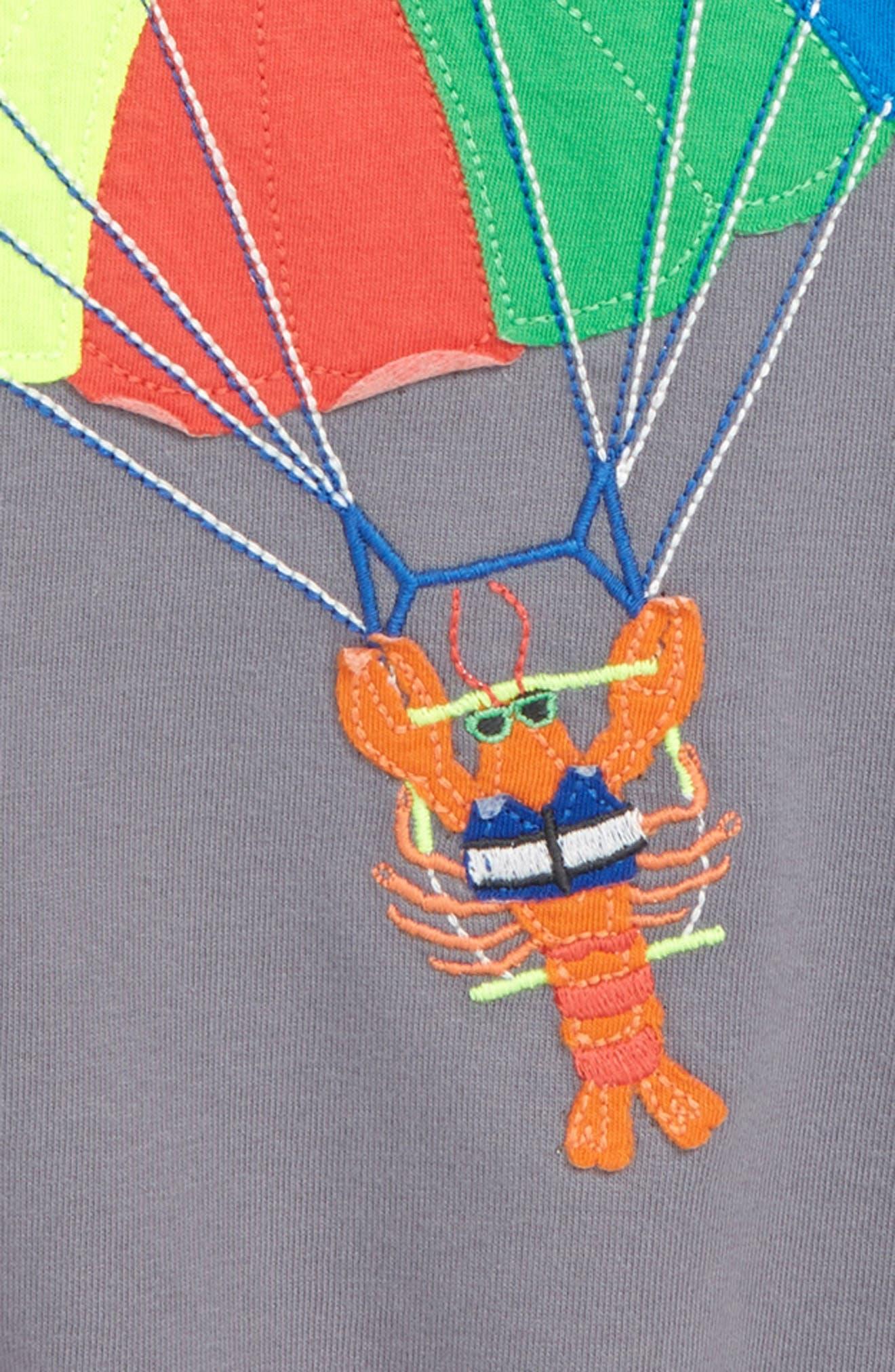 Beach Sports Appliqué Parasailing T-Shirt,                             Alternate thumbnail 2, color,                             062