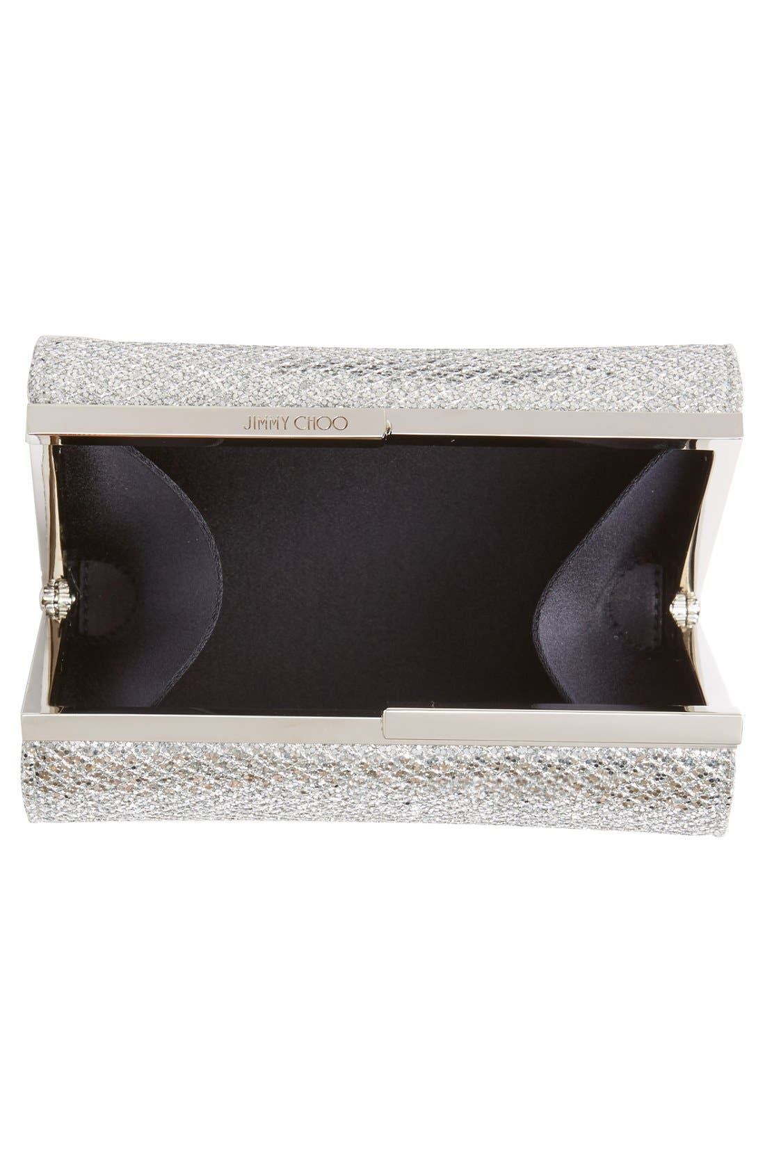 'Cate' Glitter Box Clutch,                             Alternate thumbnail 4, color,                             040