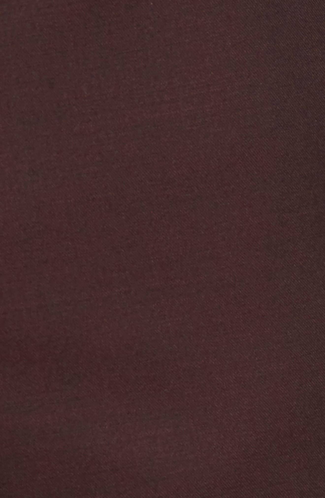 Capstone Slim Fit Tuxedo Trousers,                             Alternate thumbnail 5, color,                             MAROON