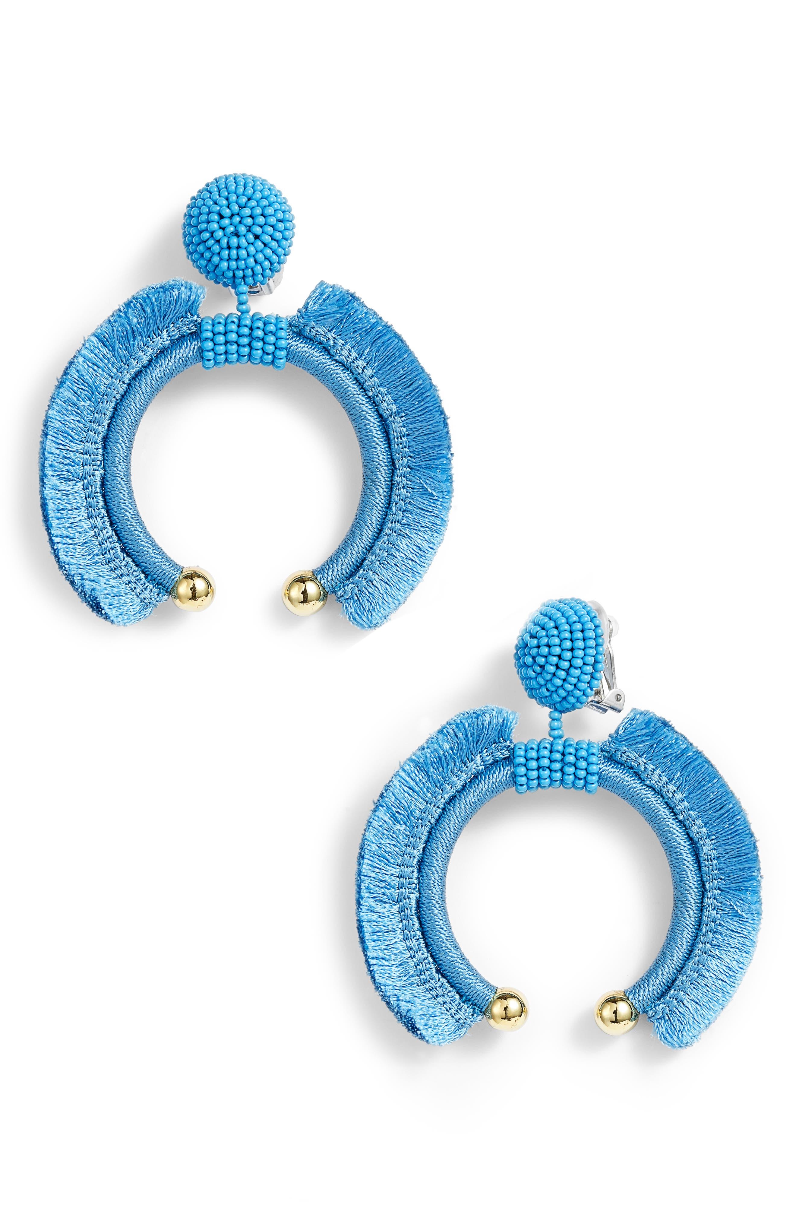 Noir Eclipse Fringe Drop Earrings,                         Main,                         color, OCEAN