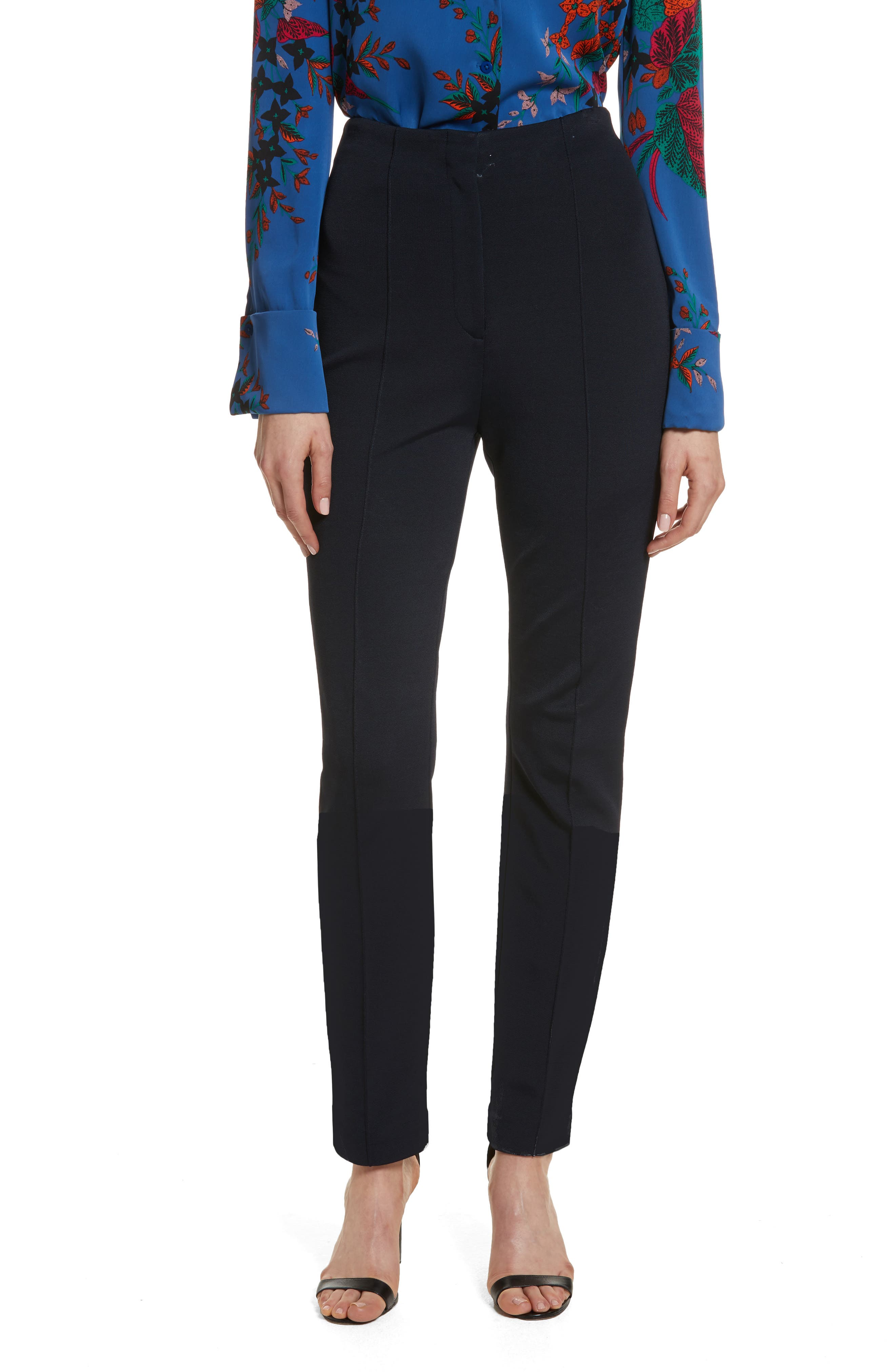 Diane von Furstenberg High Waist Skinny Pants,                             Main thumbnail 1, color,                             403