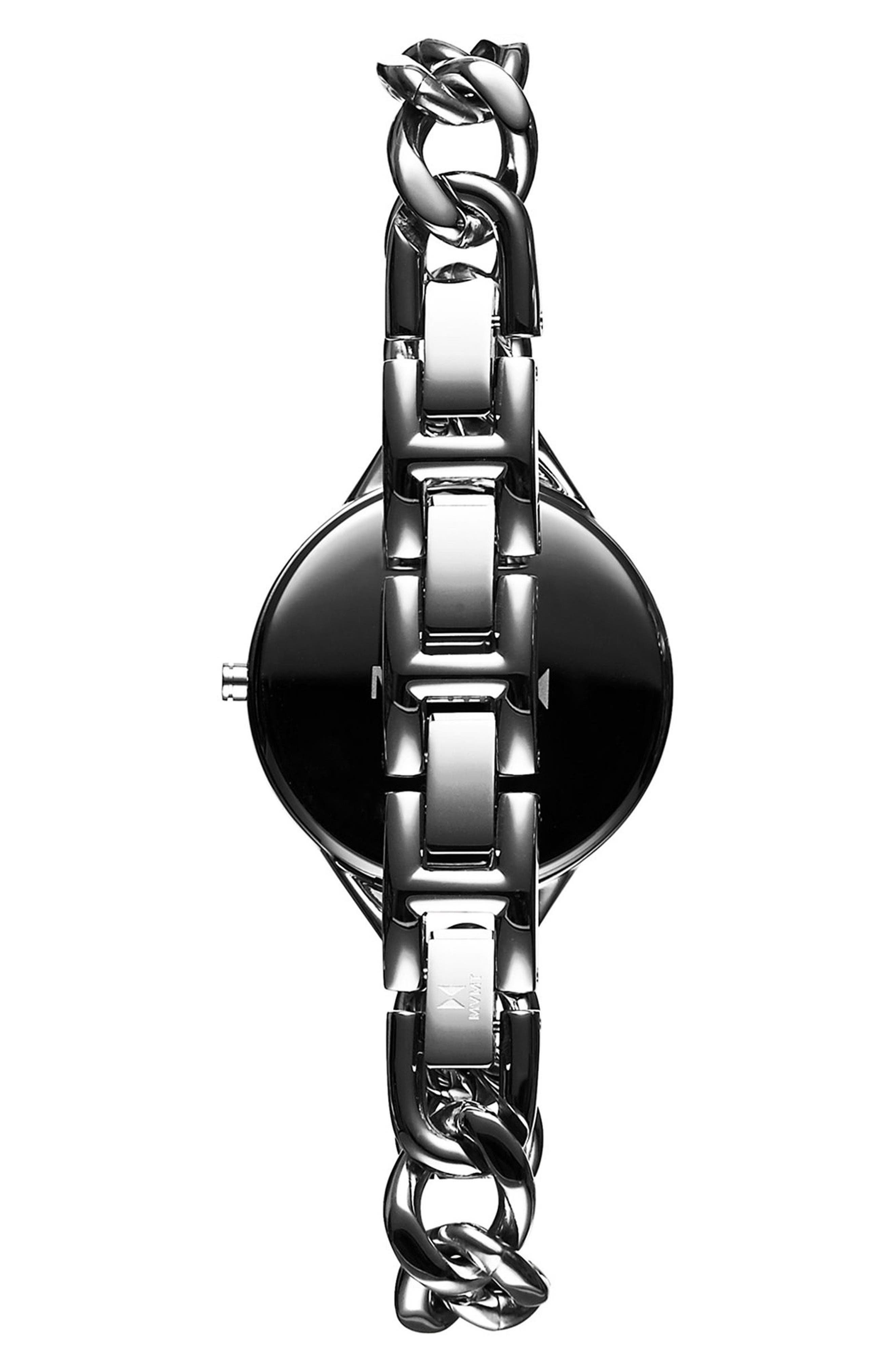 Gala Chain Bracelet Watch, 32mm,                             Alternate thumbnail 2, color,                             SILVER/ WHITE/ SILVER