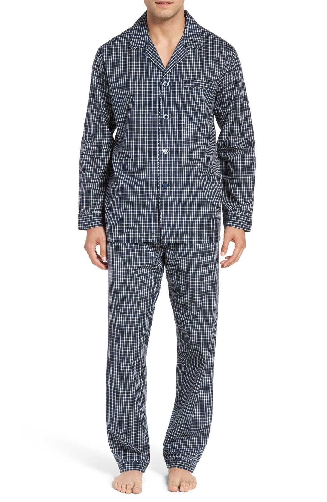 'CVC' Cotton Blend Pajamas,                             Main thumbnail 1, color,                             001