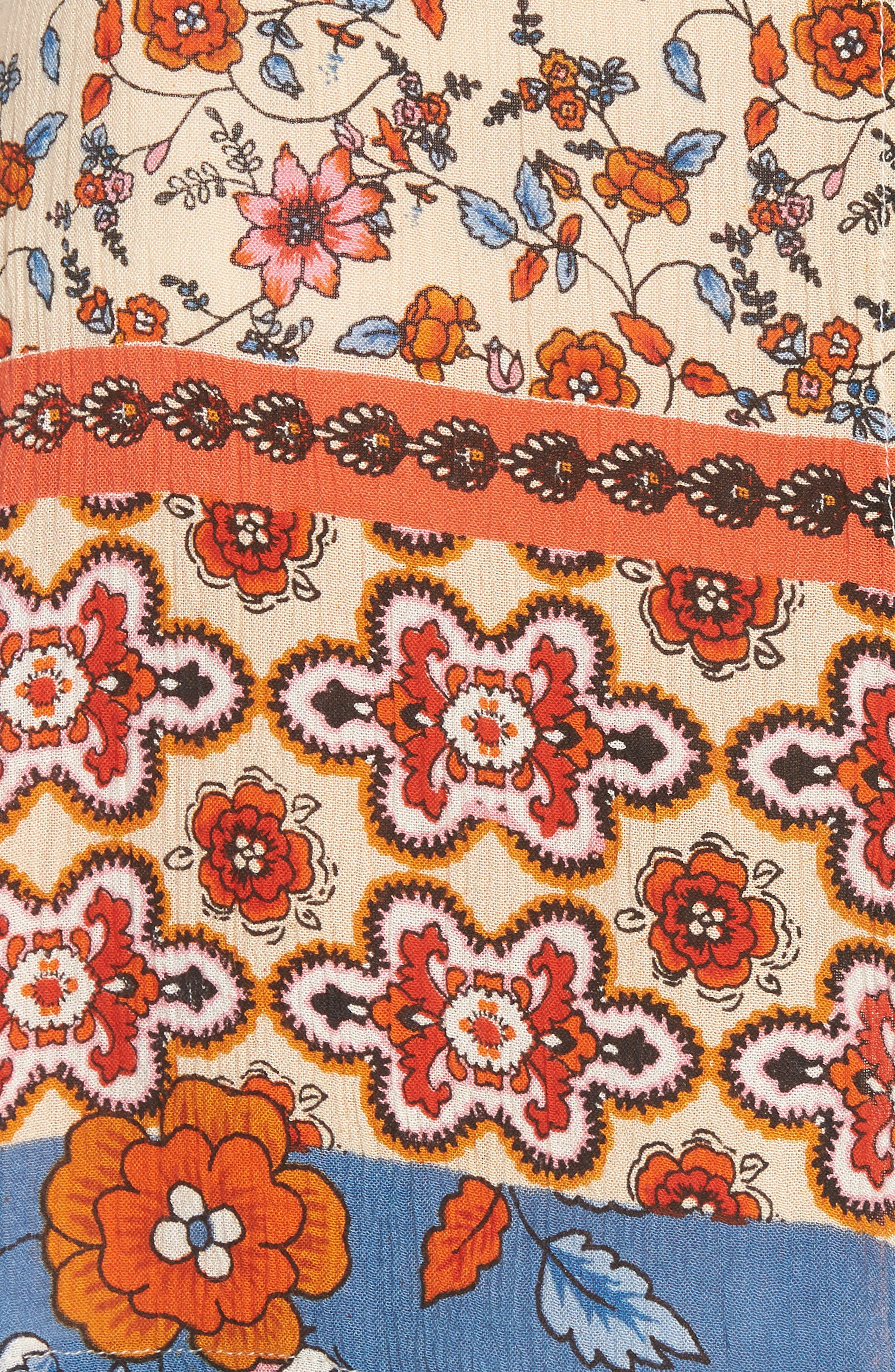 Sun Daze Mixed Print Skirt,                             Alternate thumbnail 5, color,
