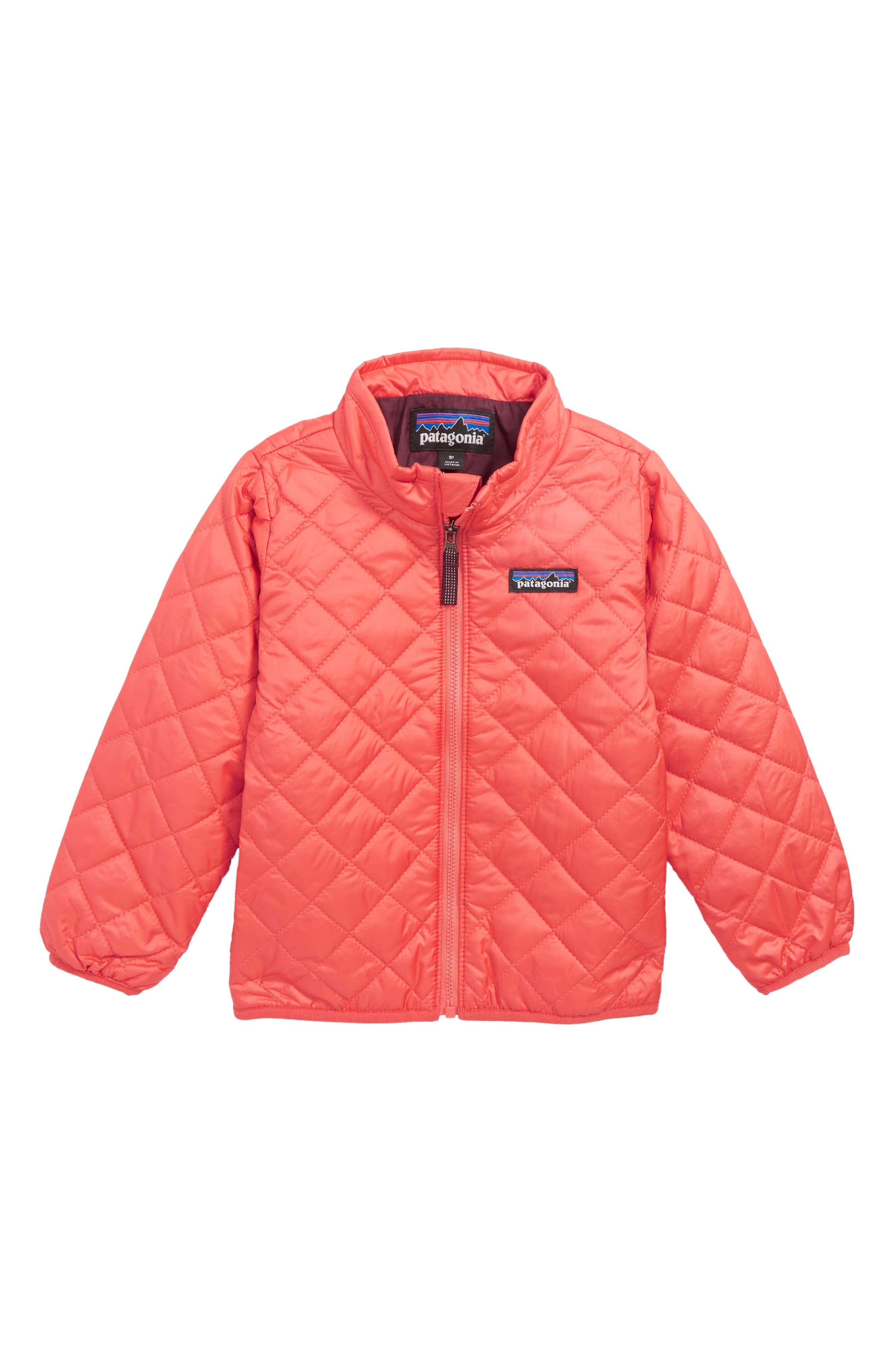 Nano Puff<sup>®</sup> Quilted Water Resistant Jacket,                         Main,                         color, SPICED CORAL