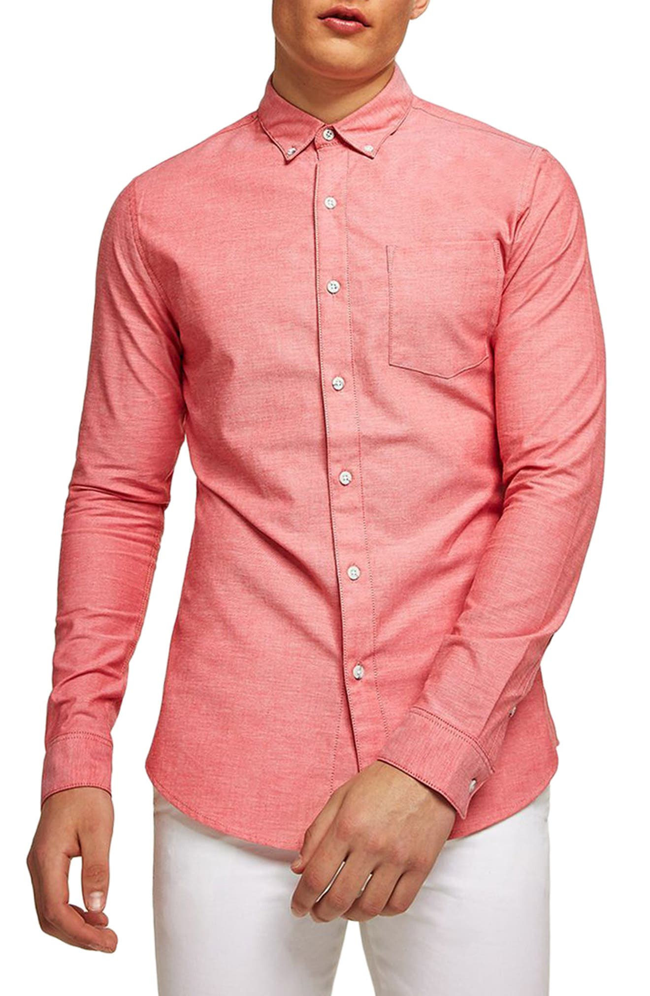 Muscle Fit Oxford Shirt,                             Main thumbnail 3, color,