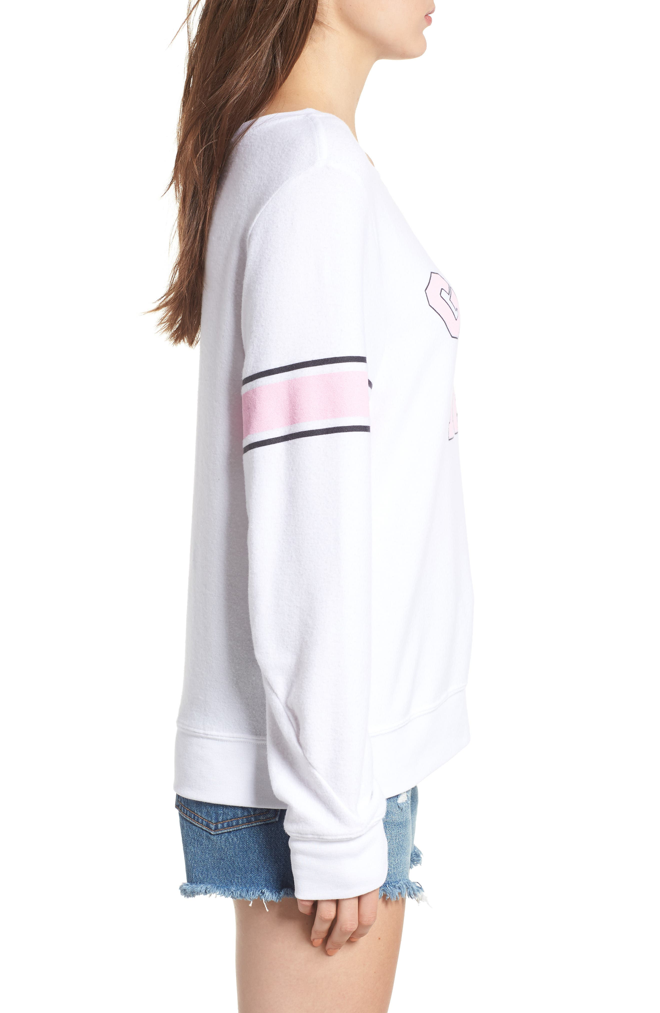 Game Day Baggy Beach Jumper Sweatshirt,                             Alternate thumbnail 3, color,                             CLEAN WHITE