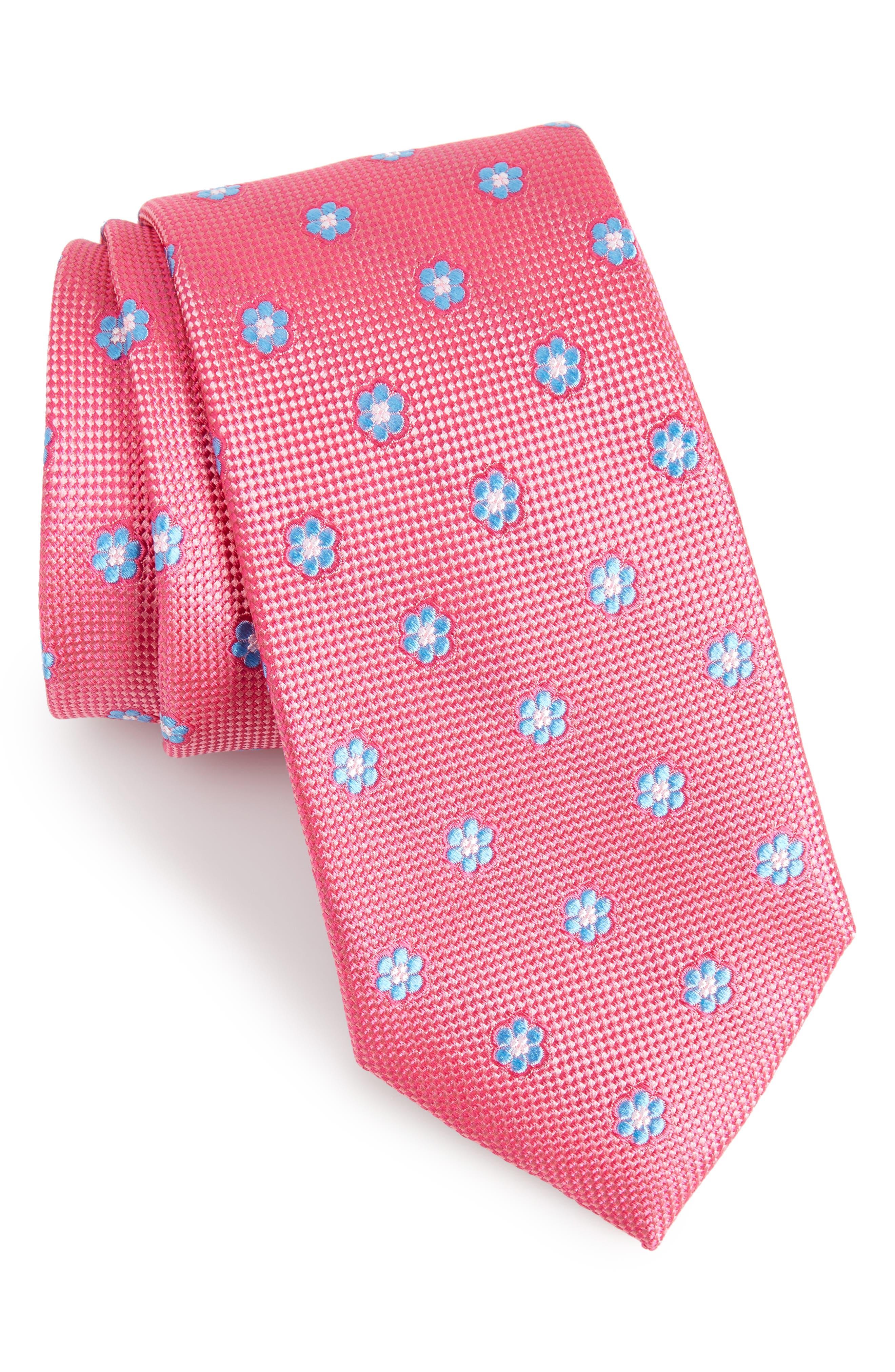 Calibrate Cloisters Neat Silk Tie,                             Main thumbnail 7, color,