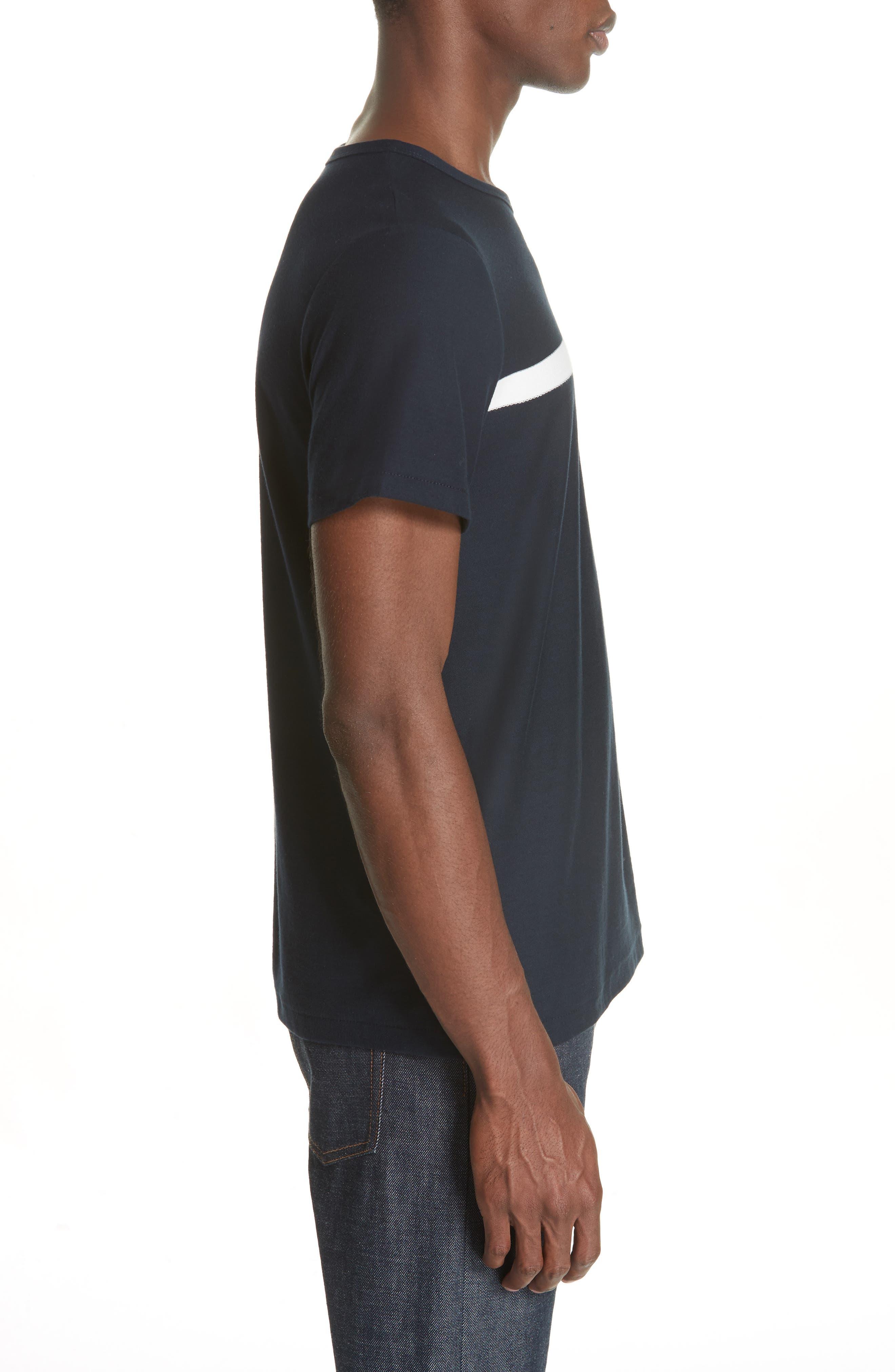 Stripe Logo T-Shirt,                             Alternate thumbnail 3, color,                             IAK NAVY