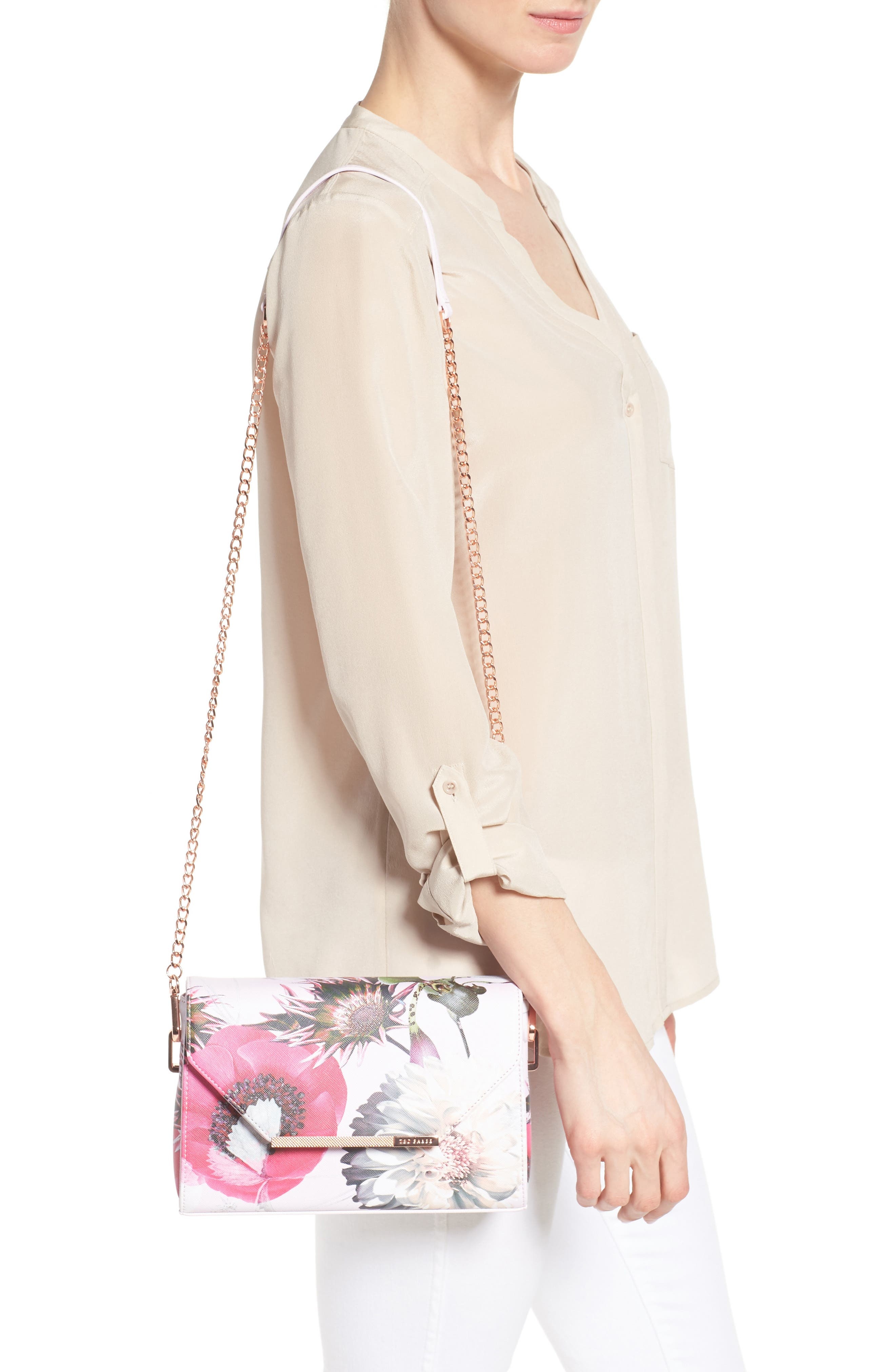 Strisa Butterfly Print Clutch,                             Alternate thumbnail 2, color,                             900
