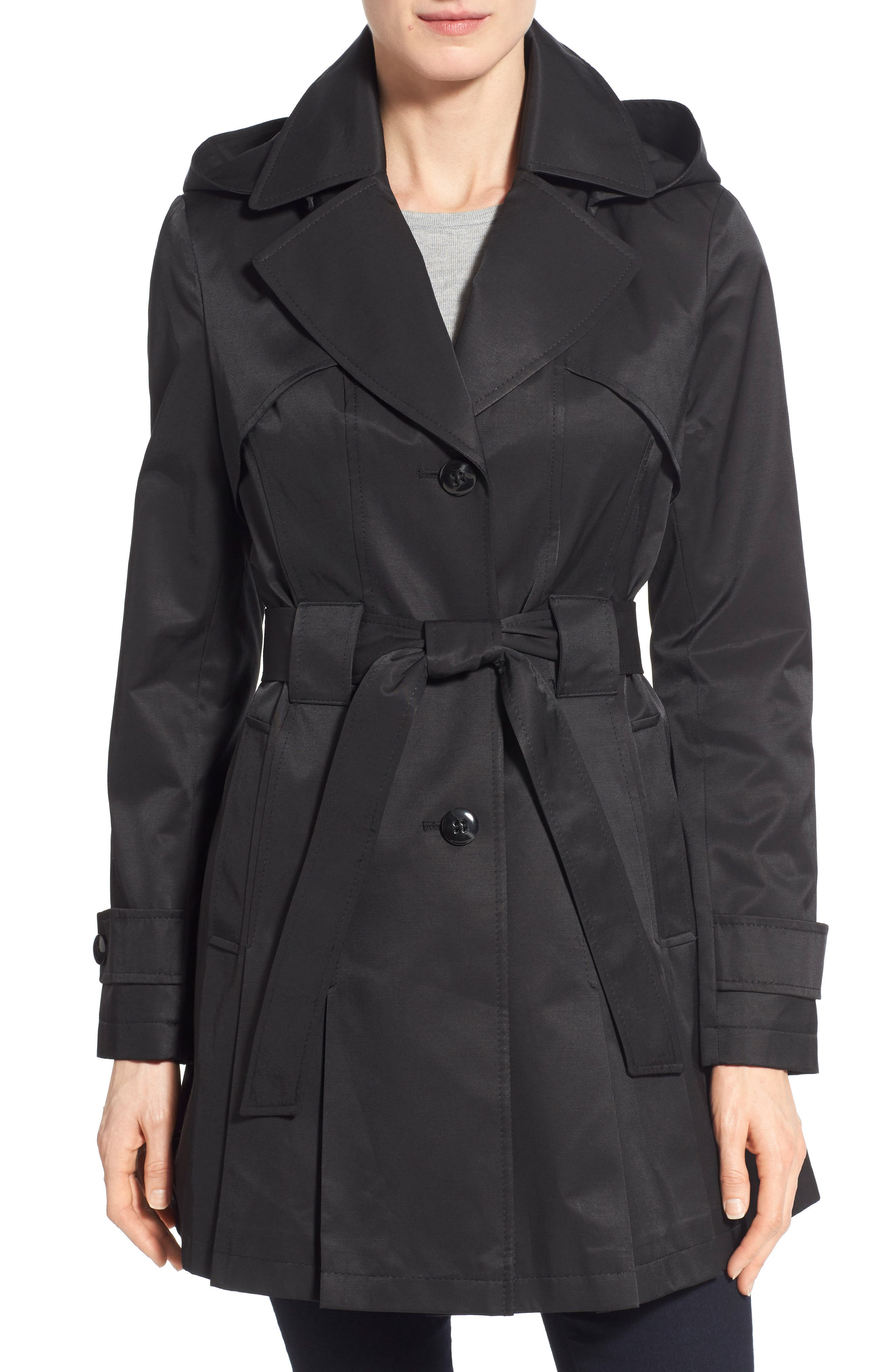 'Scarpa' Hooded Single Breasted Trench Coat,                             Alternate thumbnail 11, color,