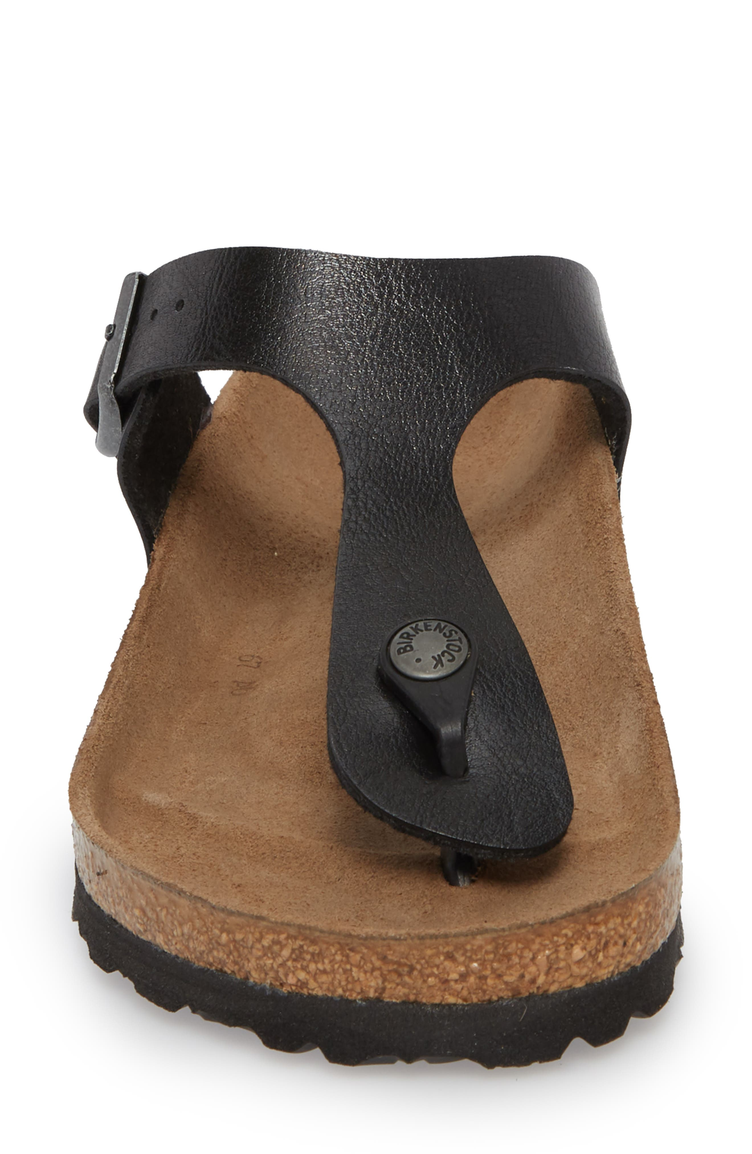 BIRKENSTOCK,                             Gizeh Birko-Flor<sup>™</sup> Thong,                             Alternate thumbnail 4, color,                             LICORICE