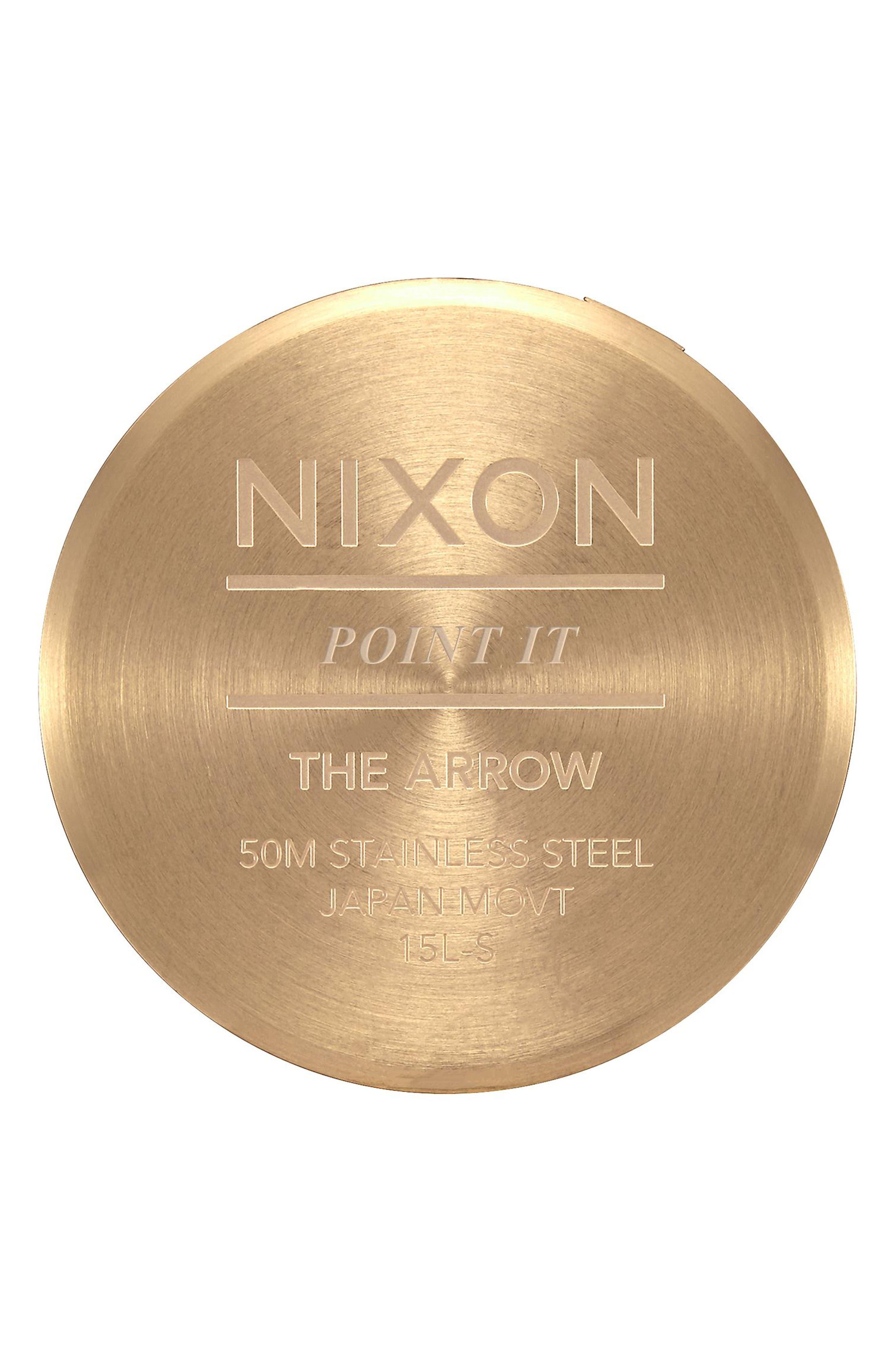 The Arrow Bracelet Watch, 38mm,                             Alternate thumbnail 4, color,                             GOLD/ WHITE/ GOLD