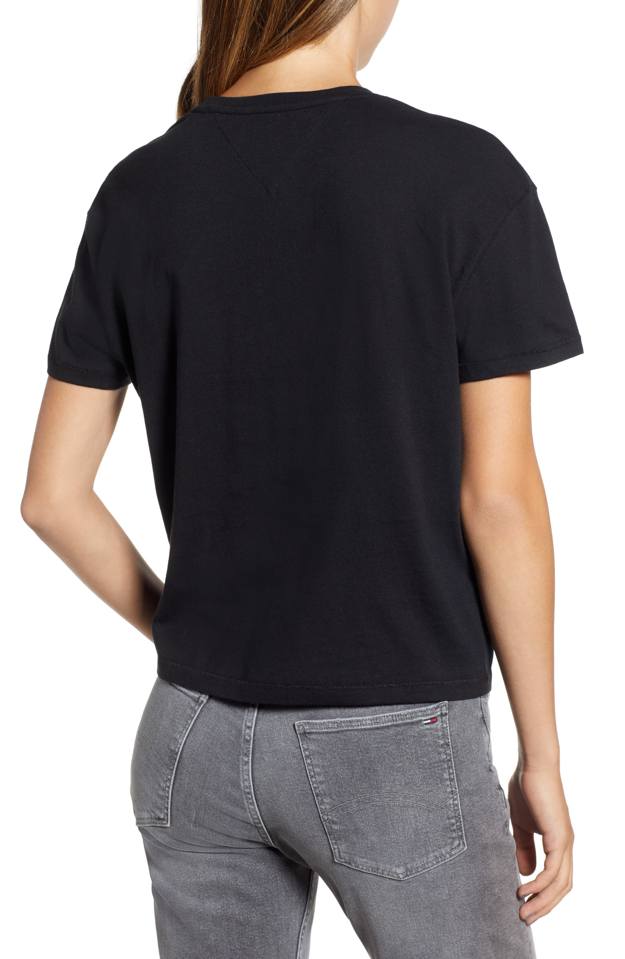 Tommy Bold Logo Tee,                             Alternate thumbnail 2, color,                             TOMMY BLACK