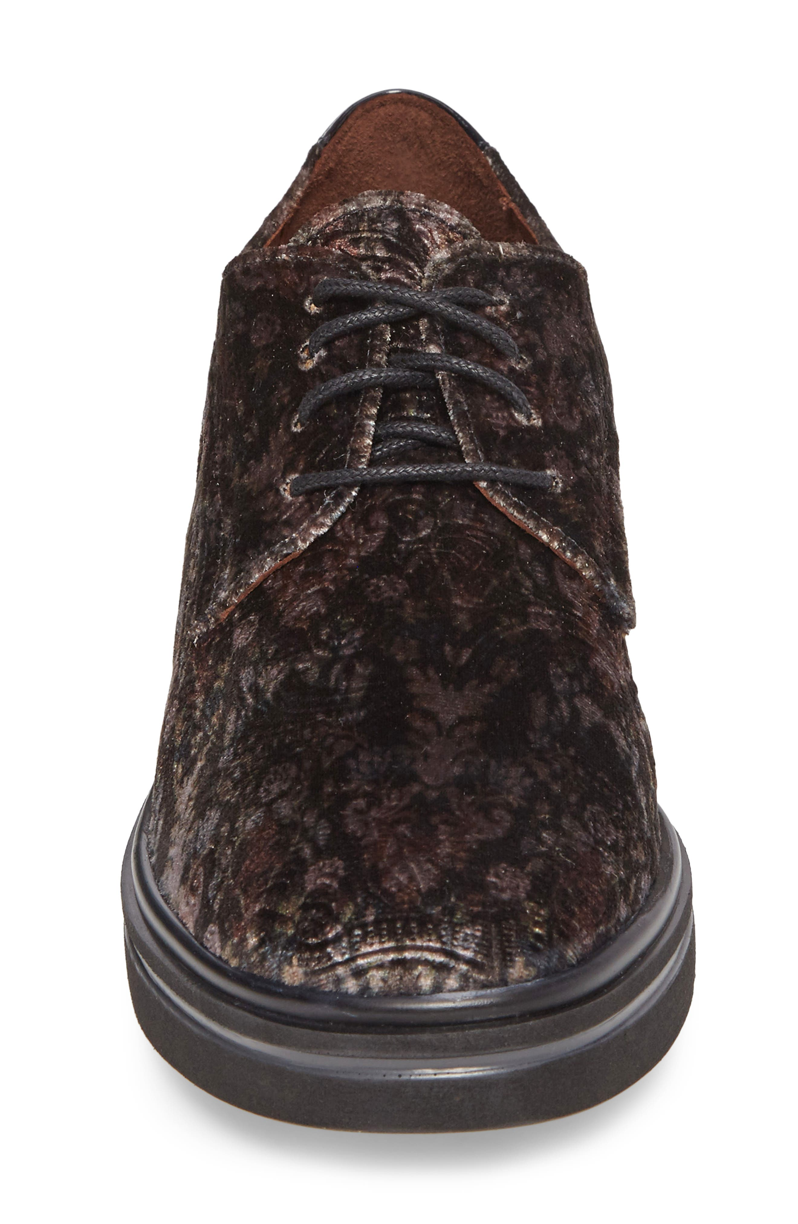 Richelle Oxford Sneaker,                             Alternate thumbnail 4, color,                             GREY FABRIC