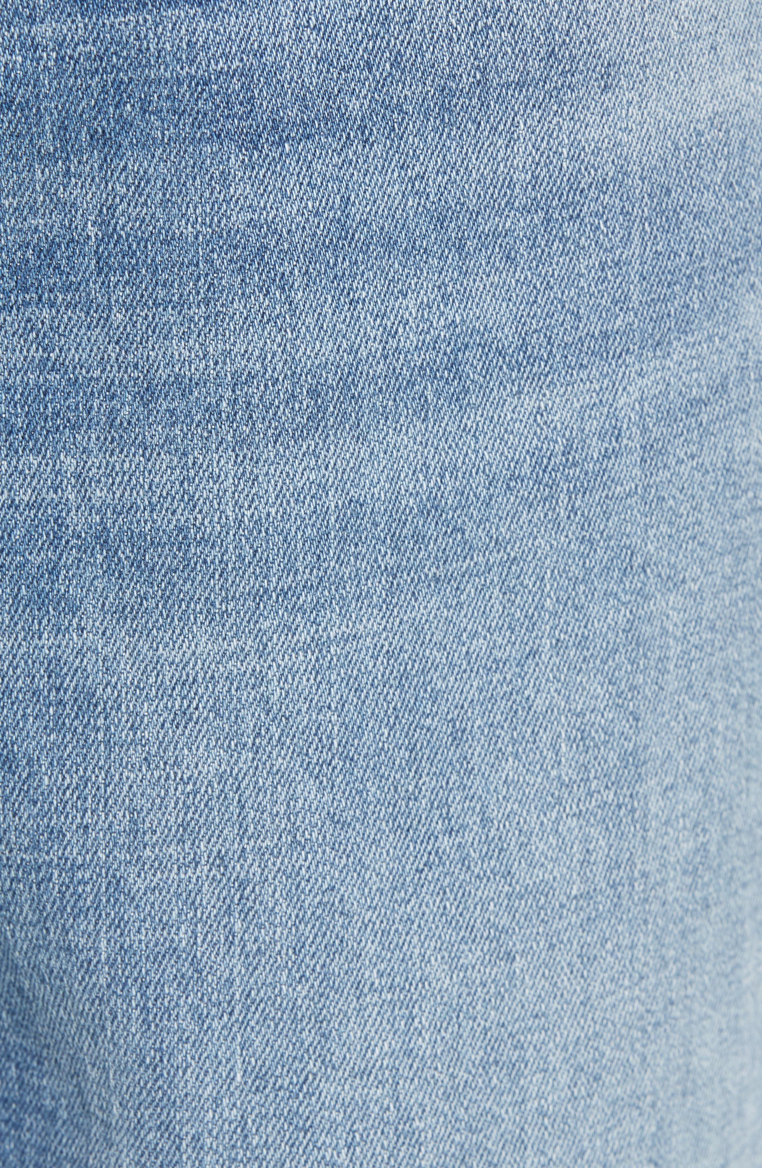 Straight Leg Jeans,                             Alternate thumbnail 5, color,                             BLUE EVAN WASH