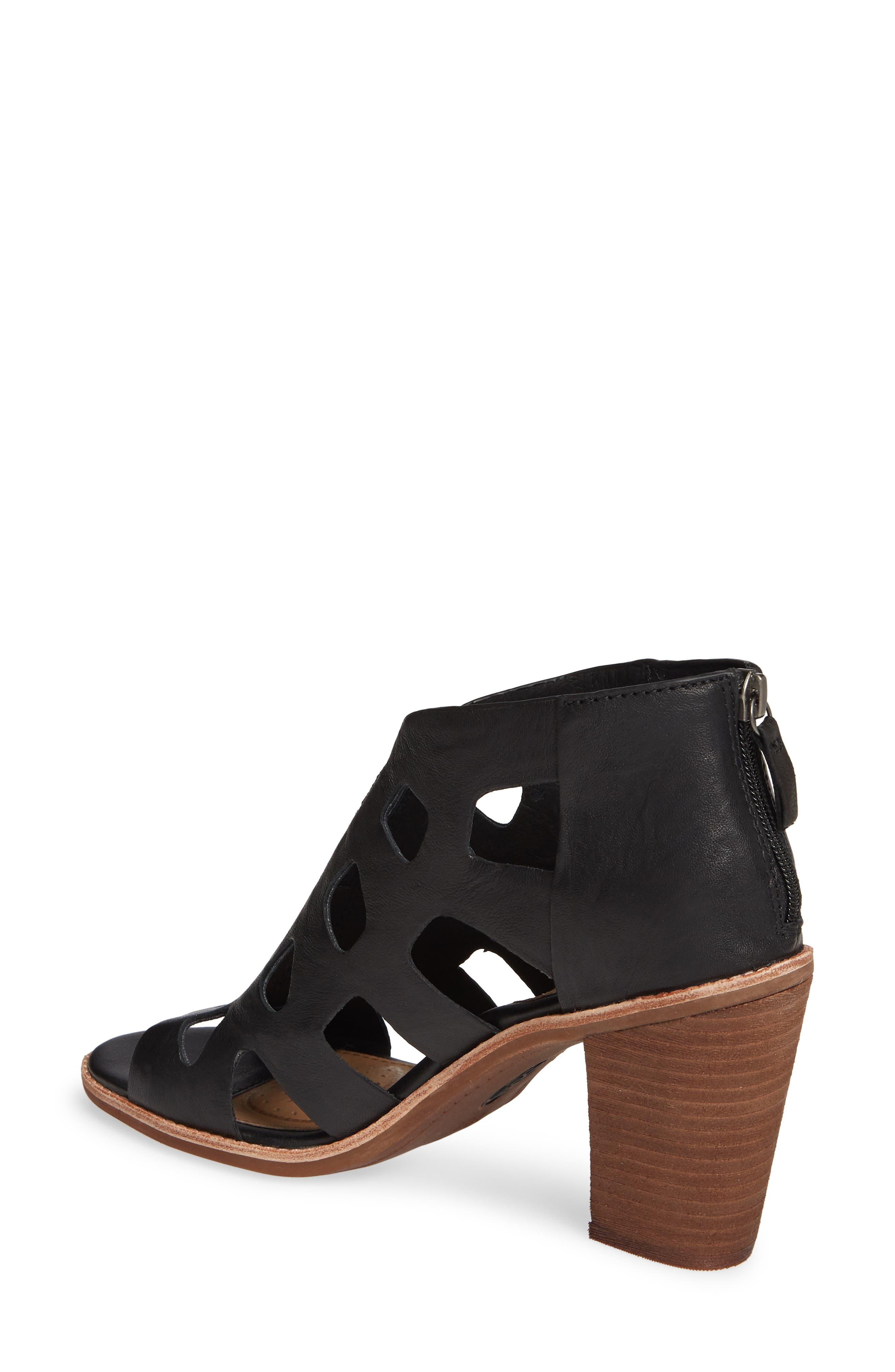 Pazia Block Heel Sandal,                             Alternate thumbnail 2, color,                             BLACK LEATHER