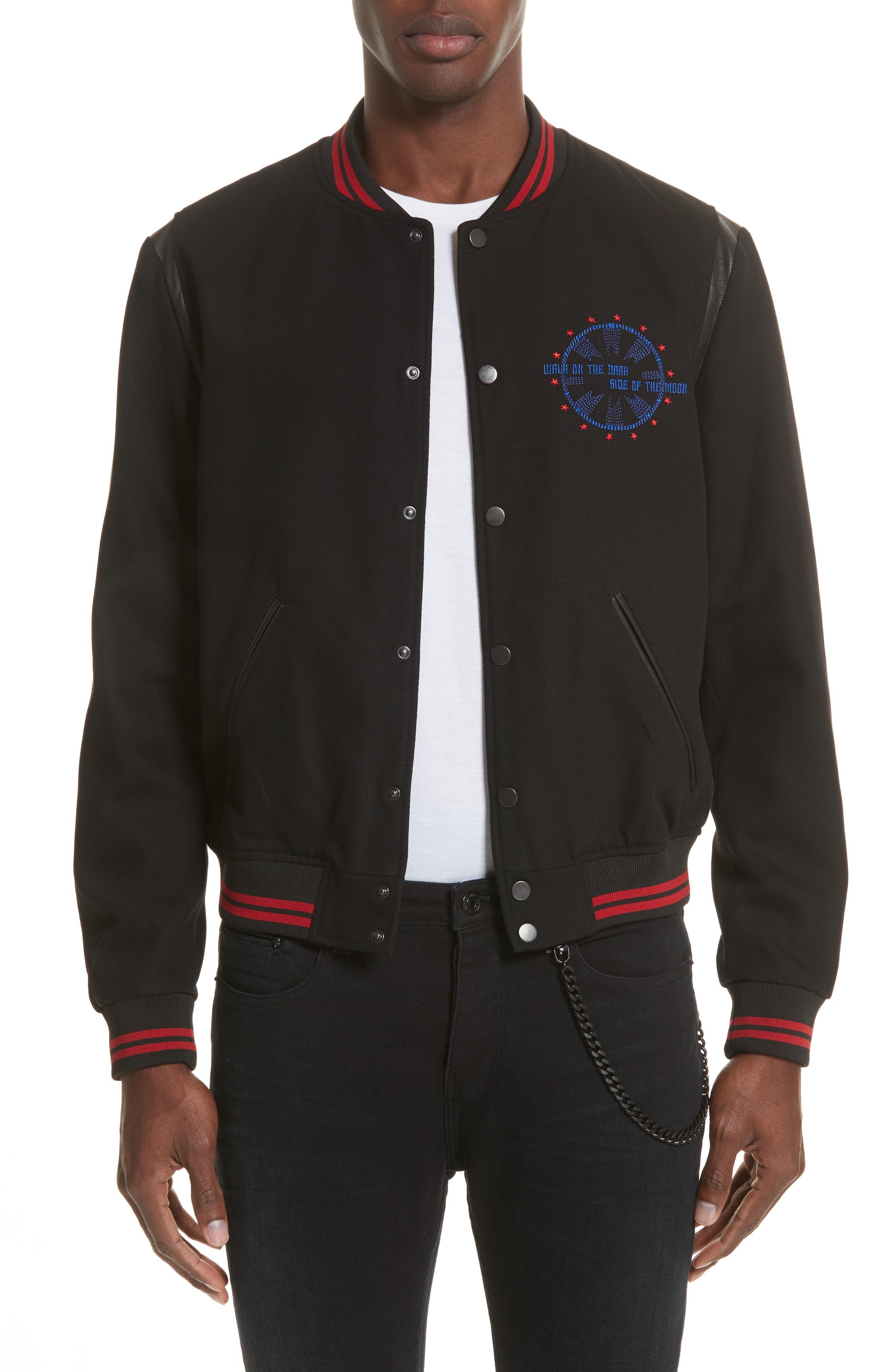 Teddy Baseball Jacket,                         Main,                         color, 001