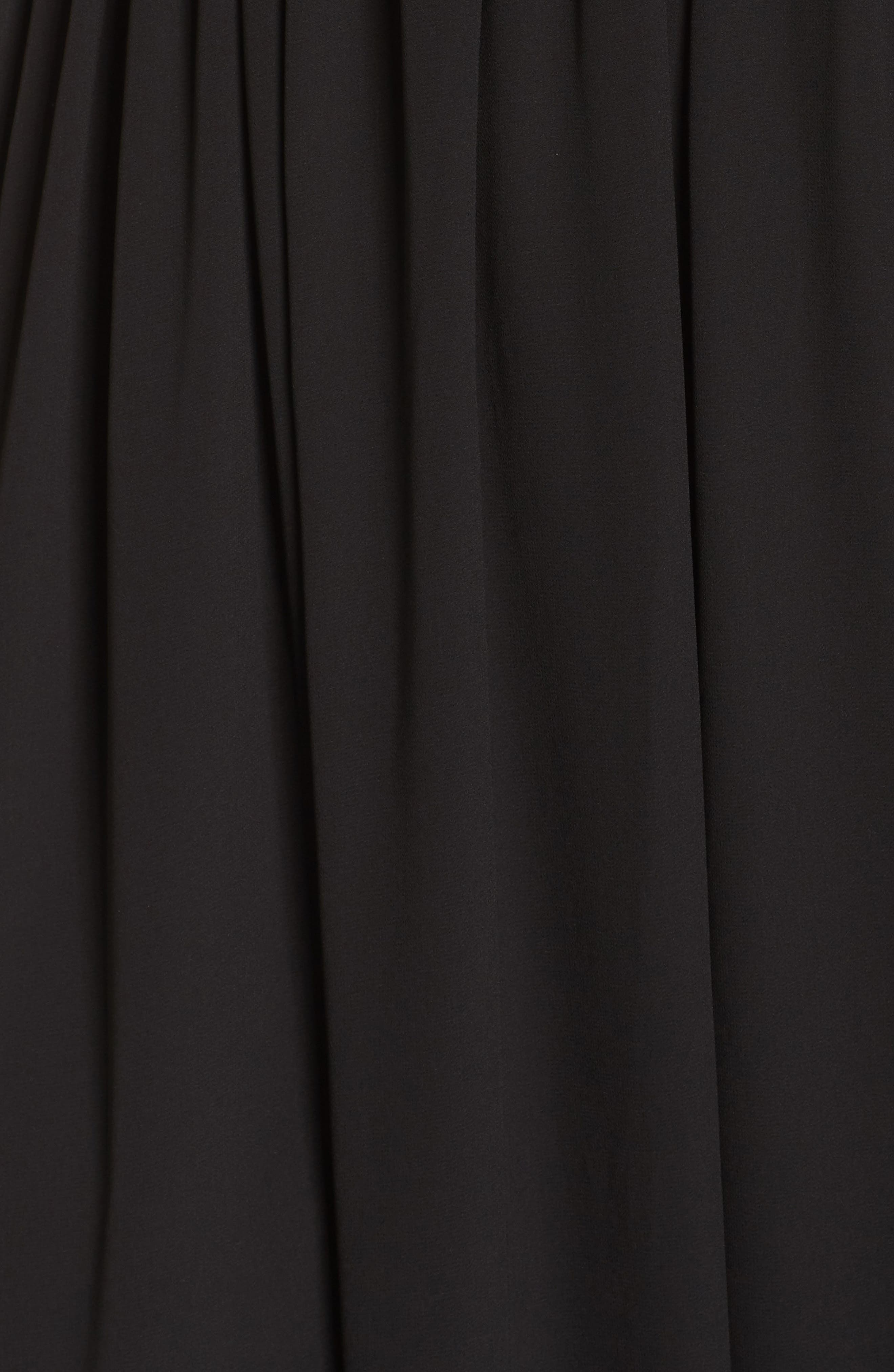 Lace Inset Maxi Dress,                             Alternate thumbnail 5, color,                             001