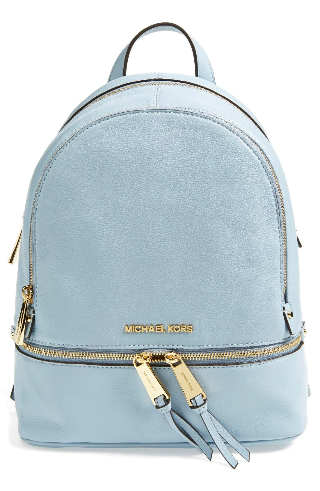'Extra Small Rhea Zip' Leather Backpack,                             Main thumbnail 6, color,