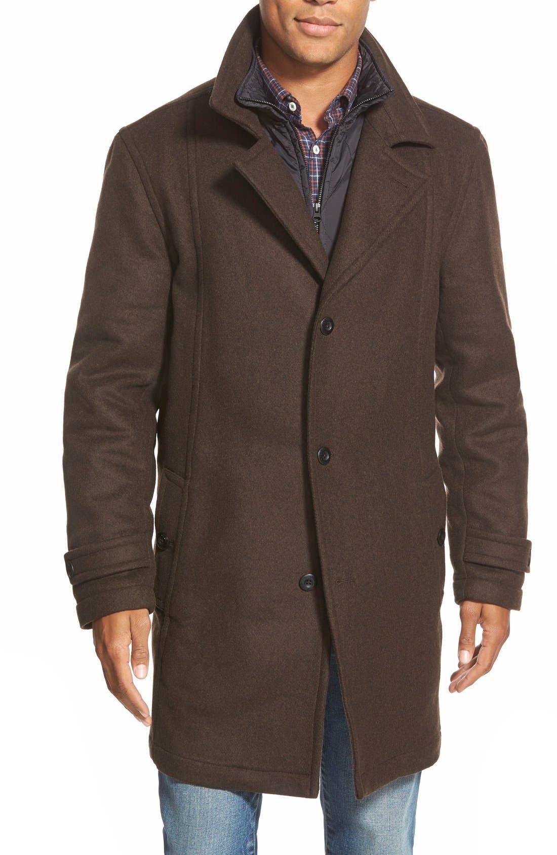 'Westown' 3-in-1 Wool Blend Coat,                         Main,                         color,
