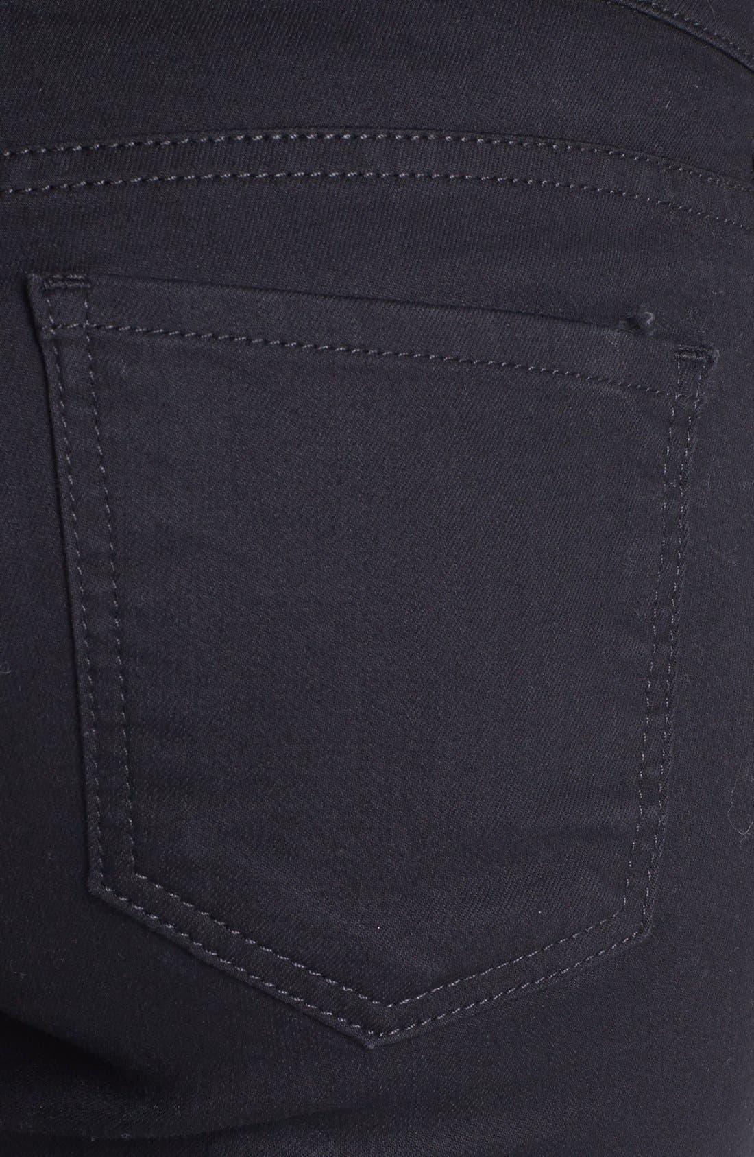 Zipper Detail Skinny Jeans,                             Alternate thumbnail 5, color,                             002