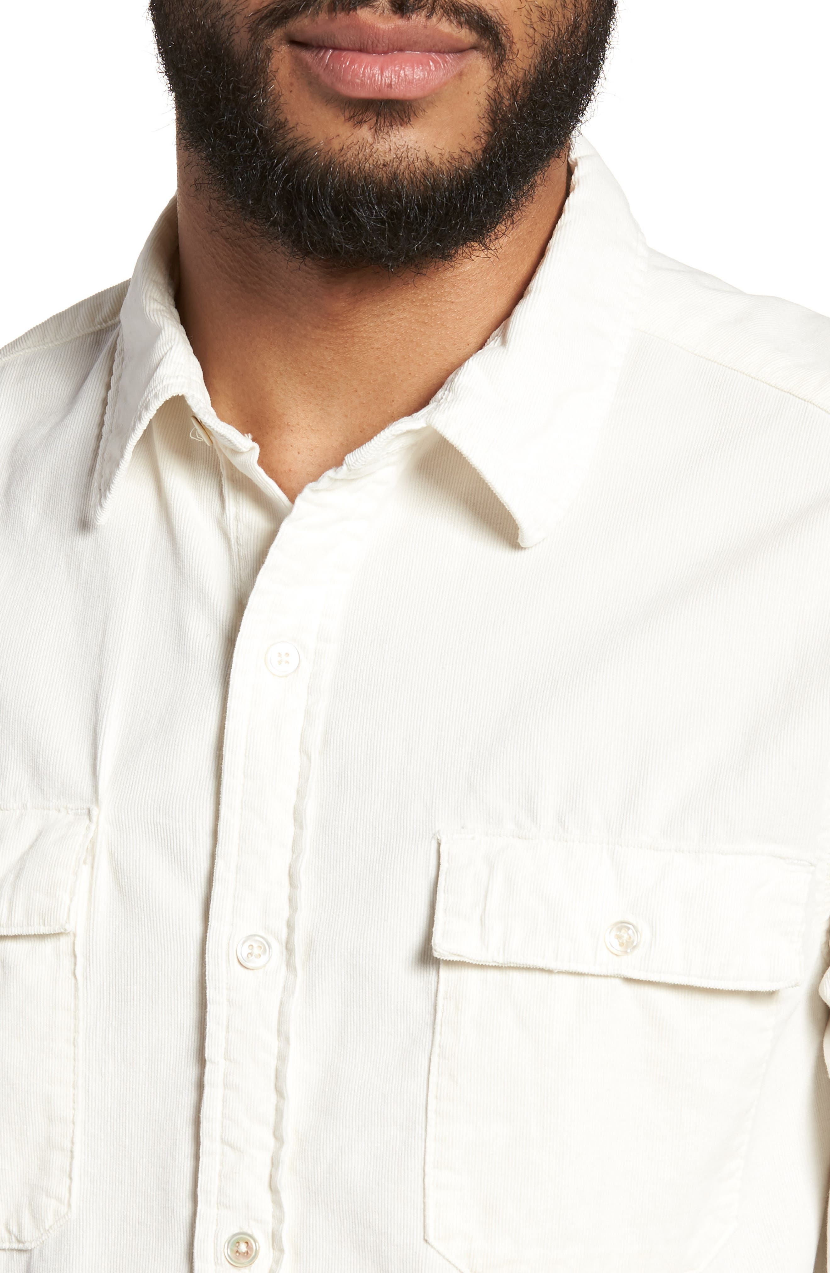 Regular Fit Corduroy Sport Shirt,                             Alternate thumbnail 4, color,                             120