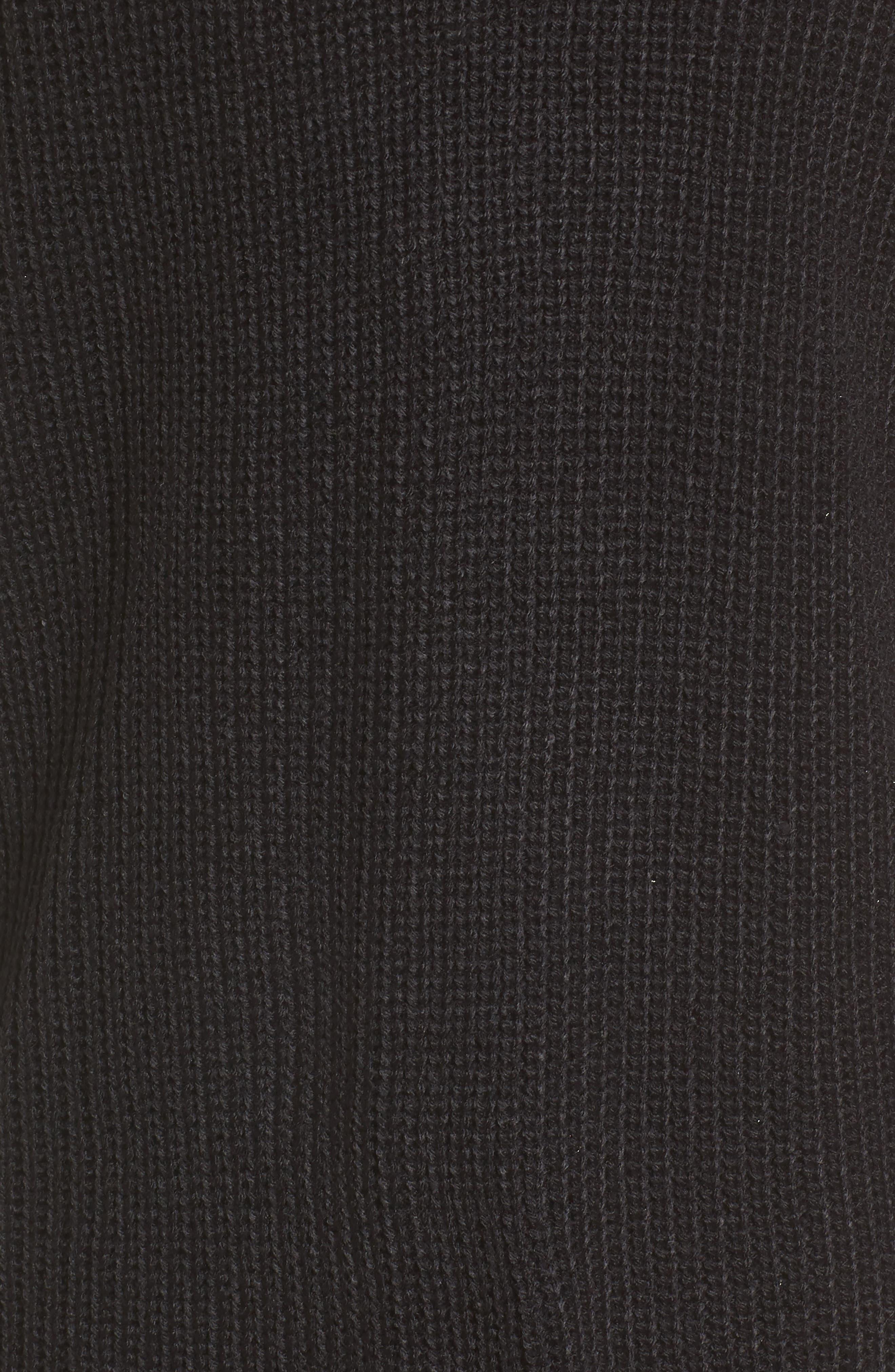 Tie Sleeve Cardigan,                             Alternate thumbnail 5, color,                             001