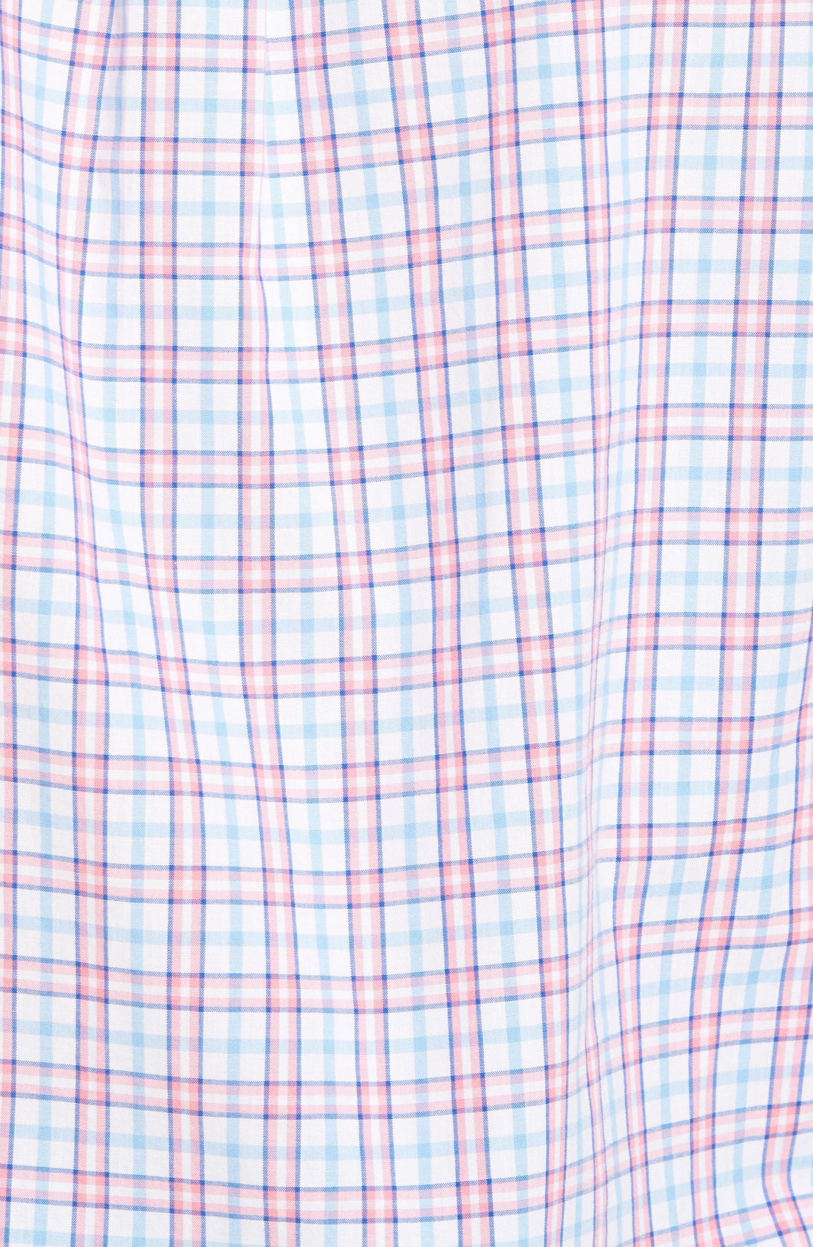 Kennard Tucker Slim Fit Plaid Sport Shirt,                             Alternate thumbnail 5, color,                             956