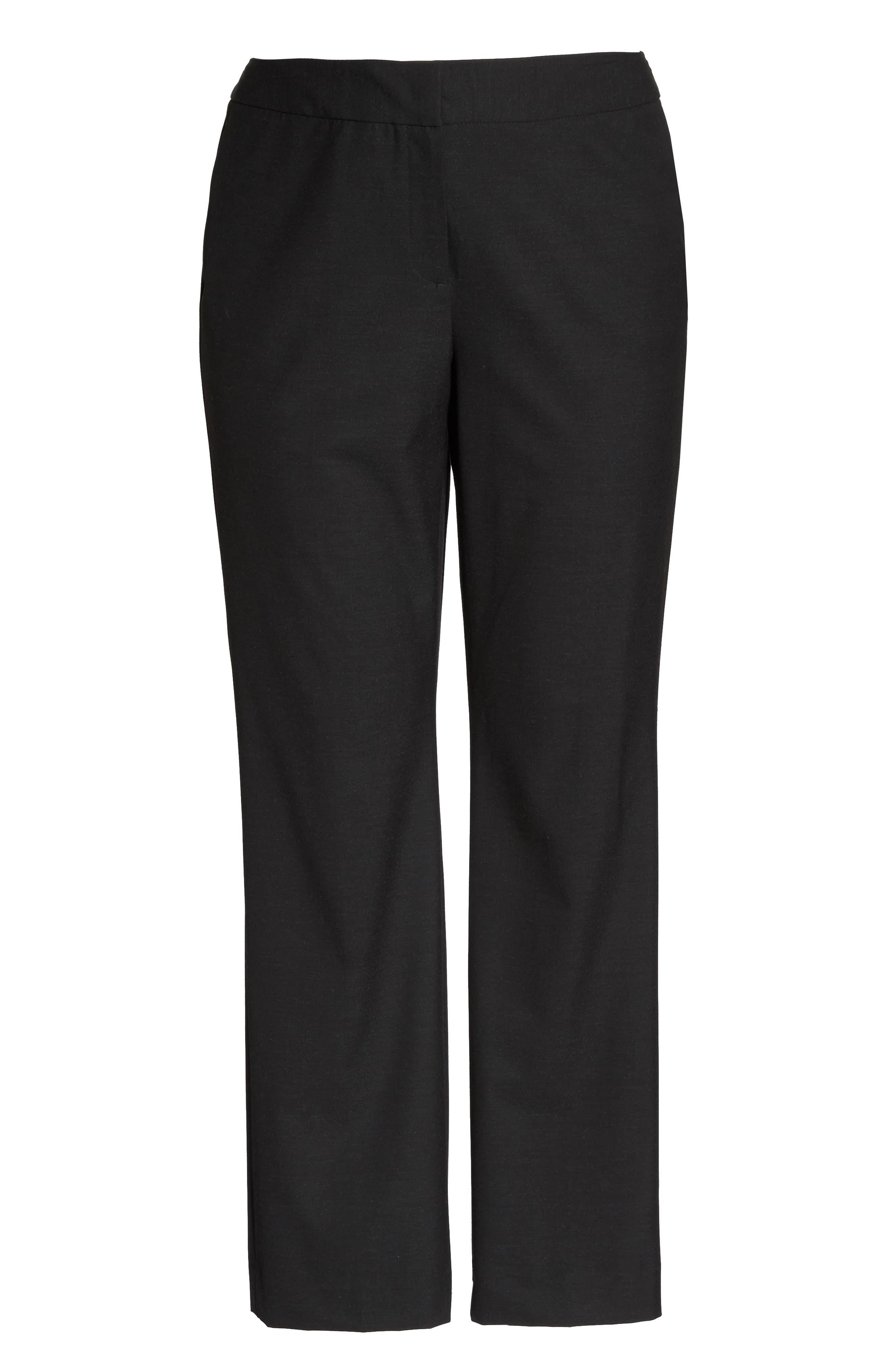 'Ela' Stretch Curvy Fit Wide Leg Suit Pants,                             Alternate thumbnail 6, color,                             022