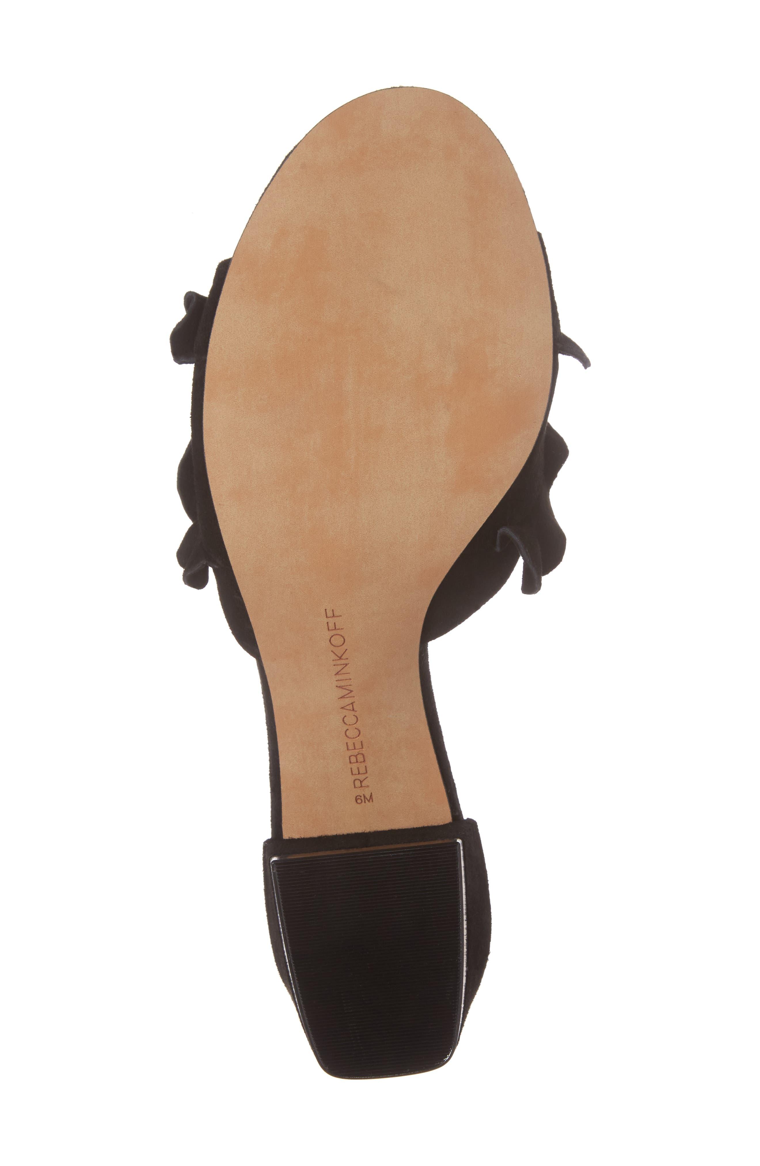 Isabelle Ruffle Mule Sandal,                             Alternate thumbnail 6, color,                             004