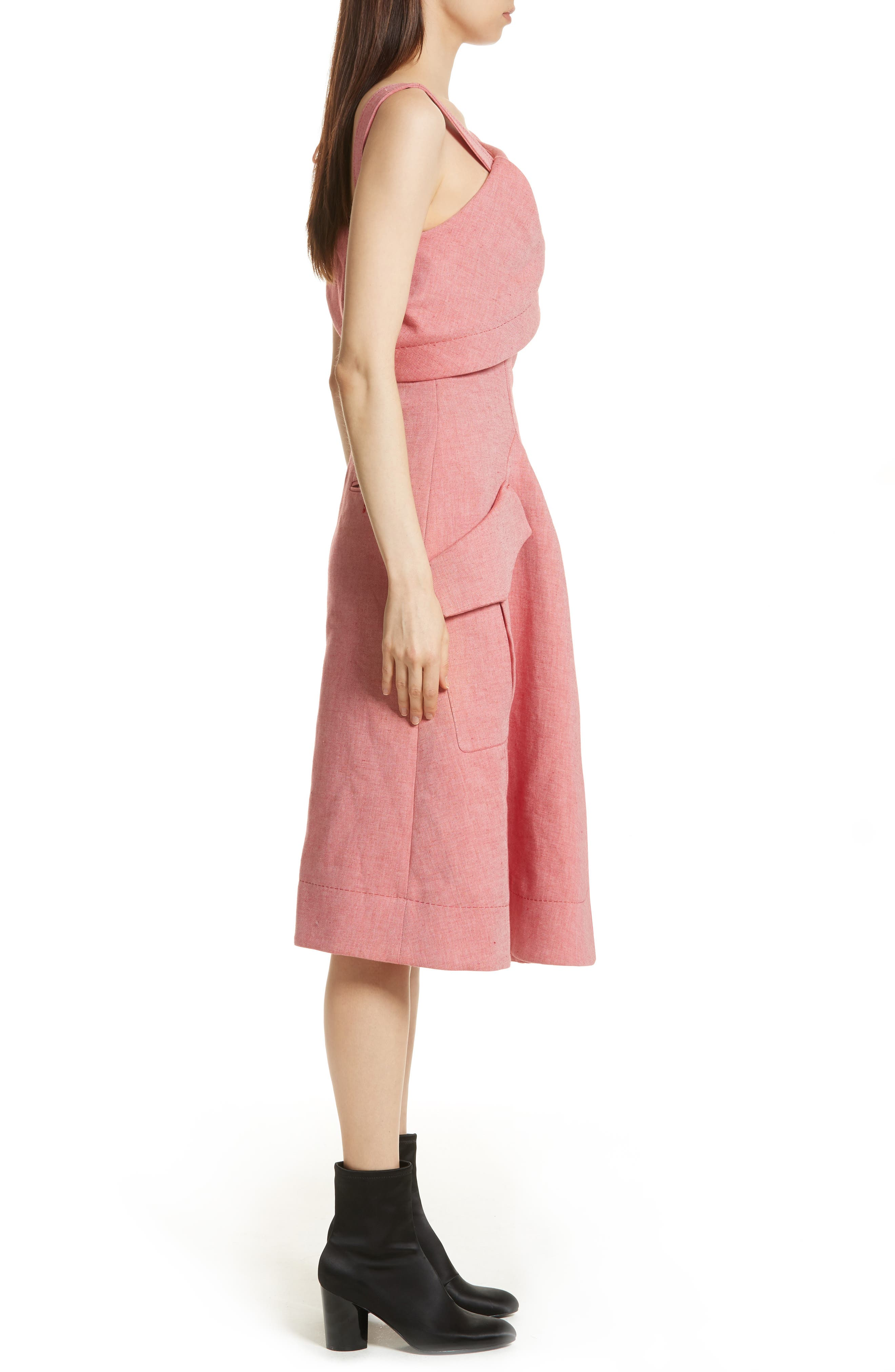 Robe Genou Dress,                             Alternate thumbnail 3, color,                             650