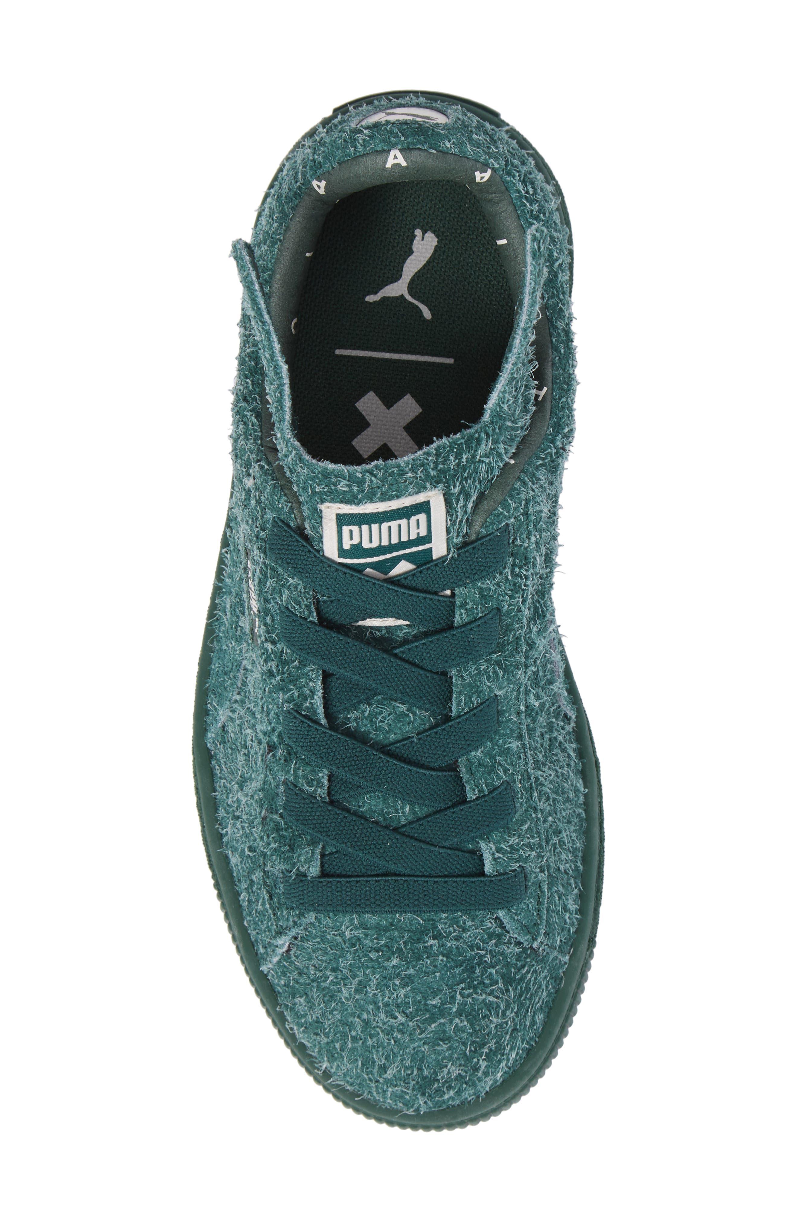 x tinycottons Basket Furry Sneaker,                             Alternate thumbnail 5, color,                             300