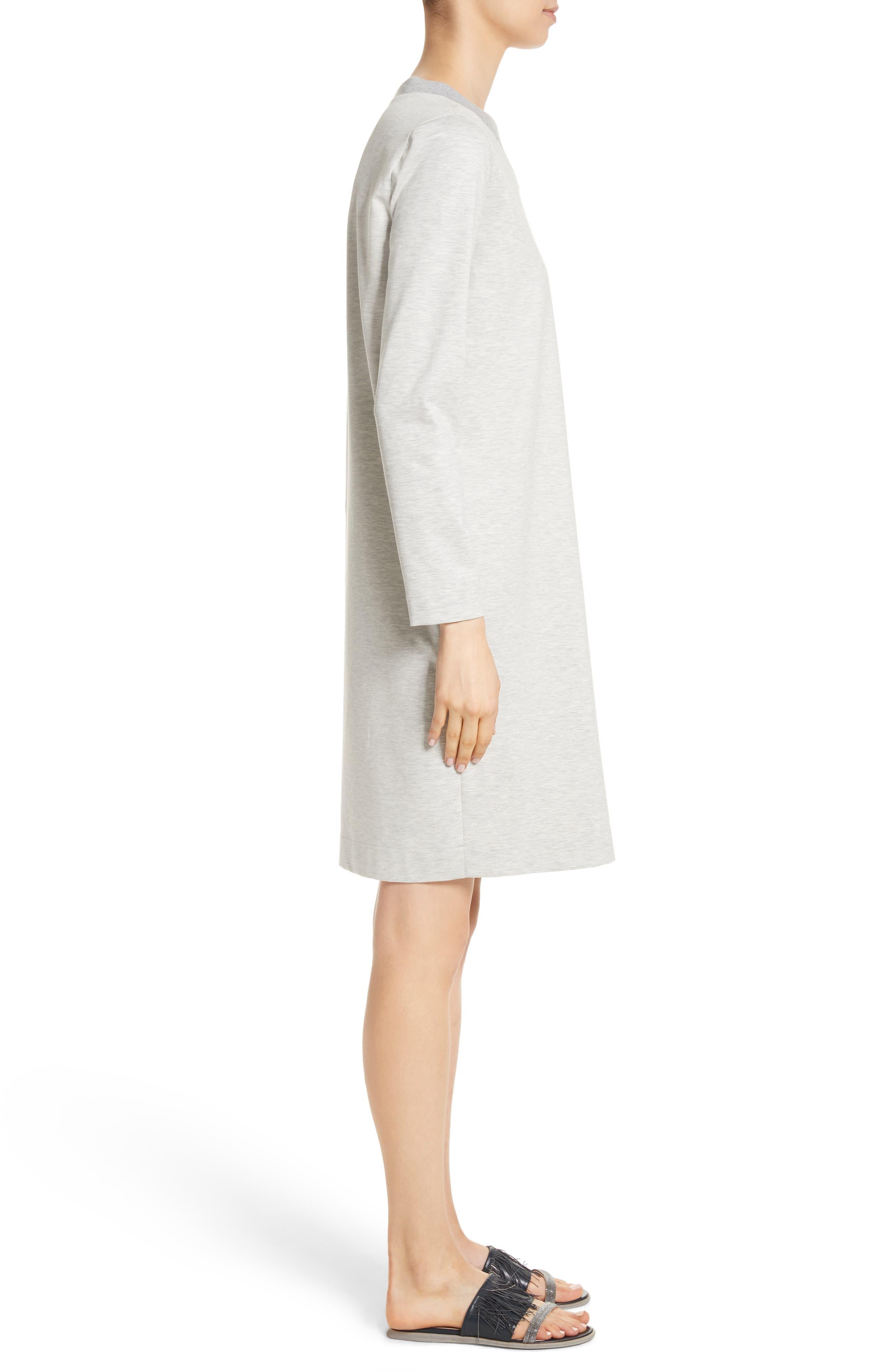 Rodier Jersey Sweatshirt Dress,                             Alternate thumbnail 3, color,                             050