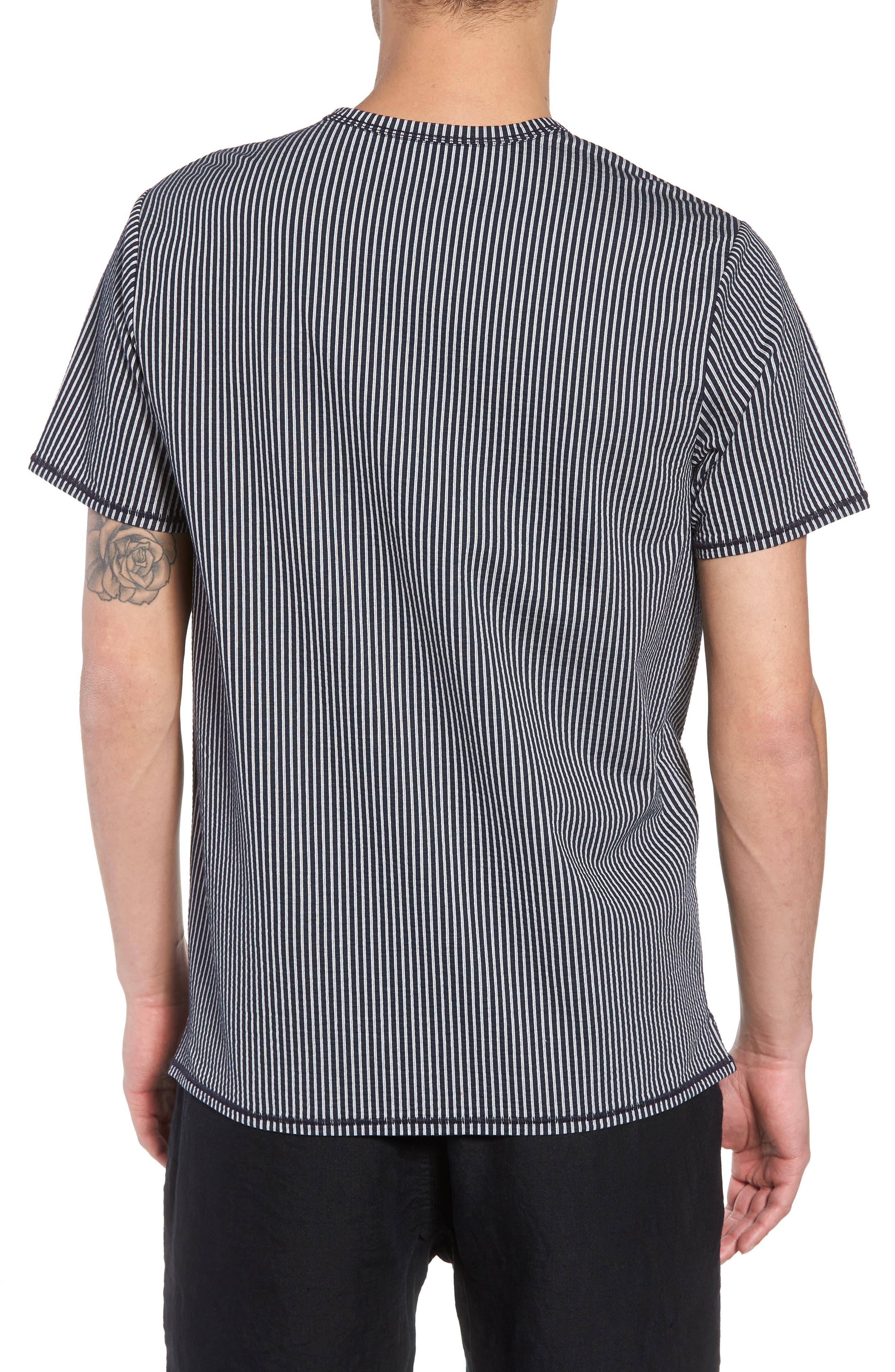 Japanese Seersucker T-Shirt,                             Alternate thumbnail 4, color,