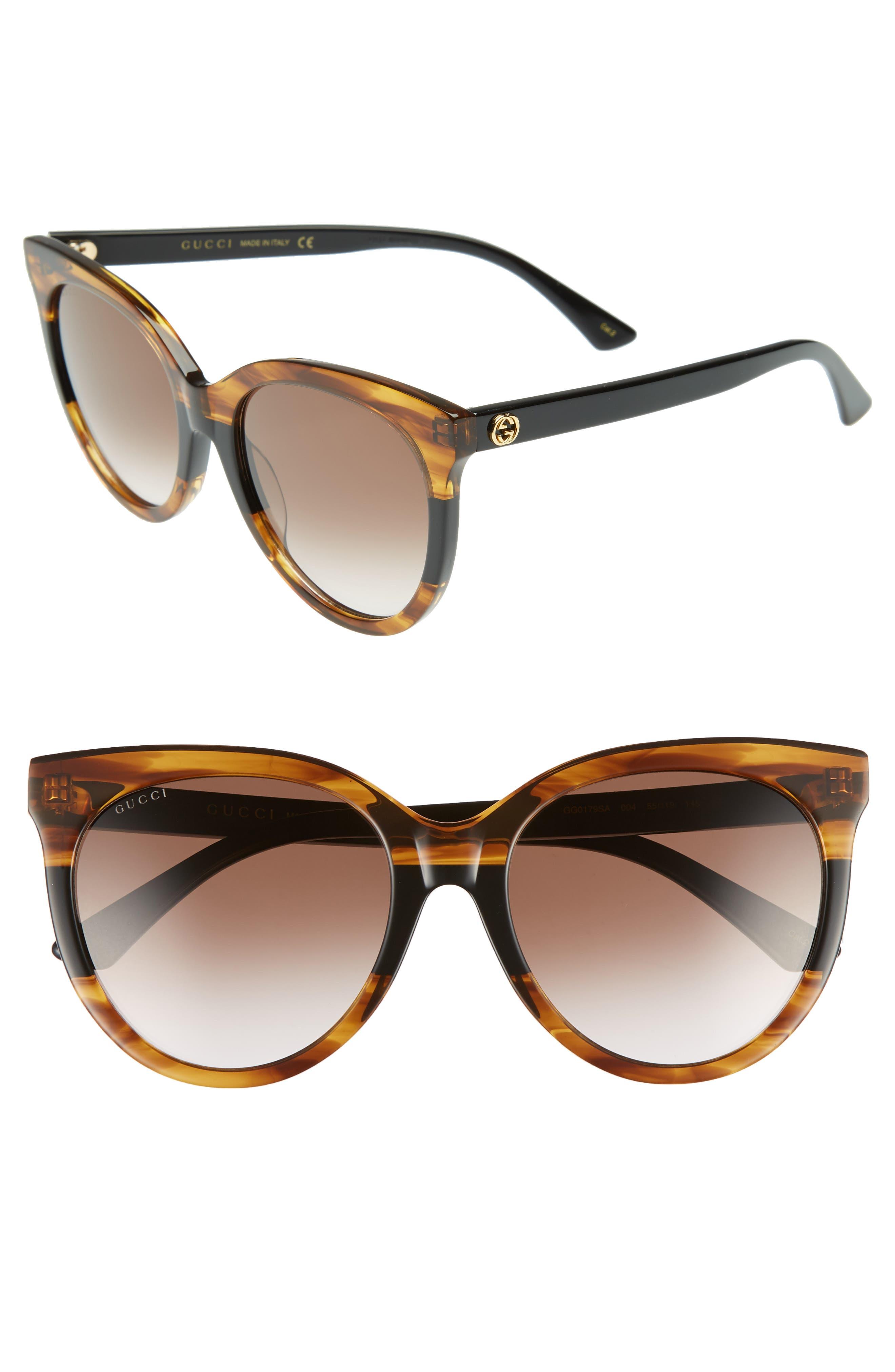 GUCCI,                             55mm Round Sunglasses,                             Main thumbnail 1, color,                             213