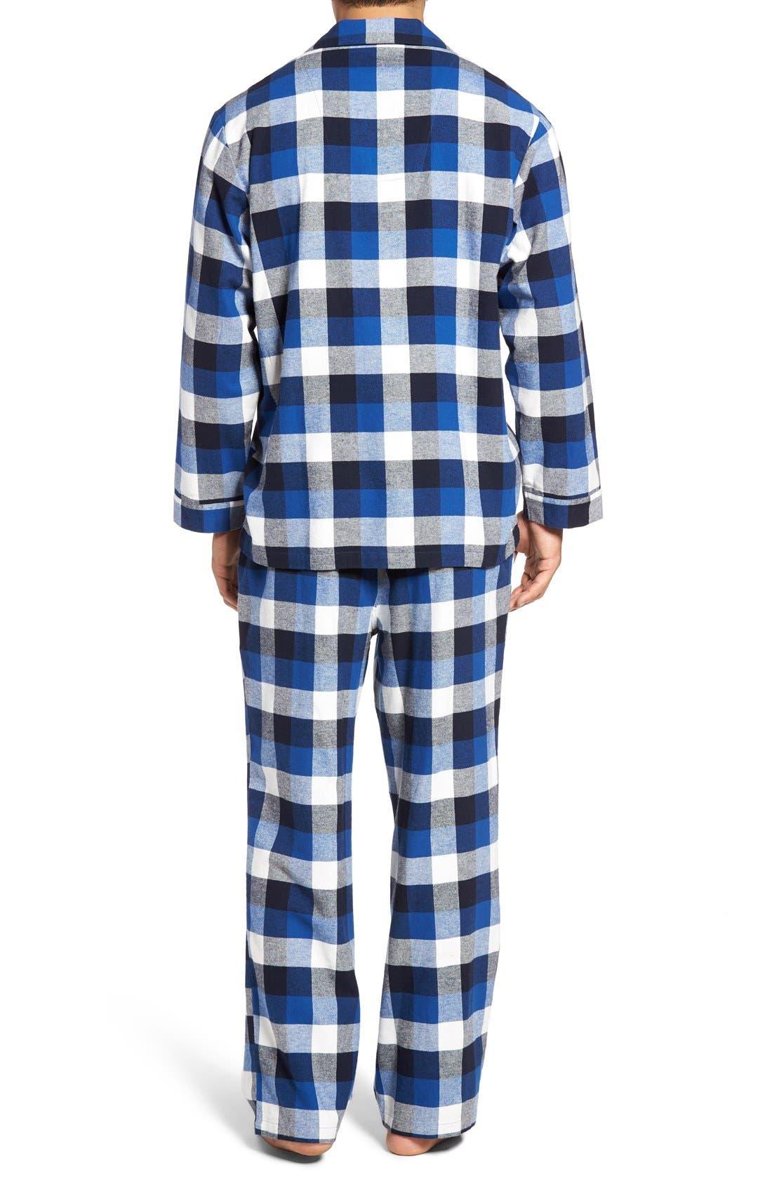 '824' Flannel Pajama Set,                             Alternate thumbnail 112, color,