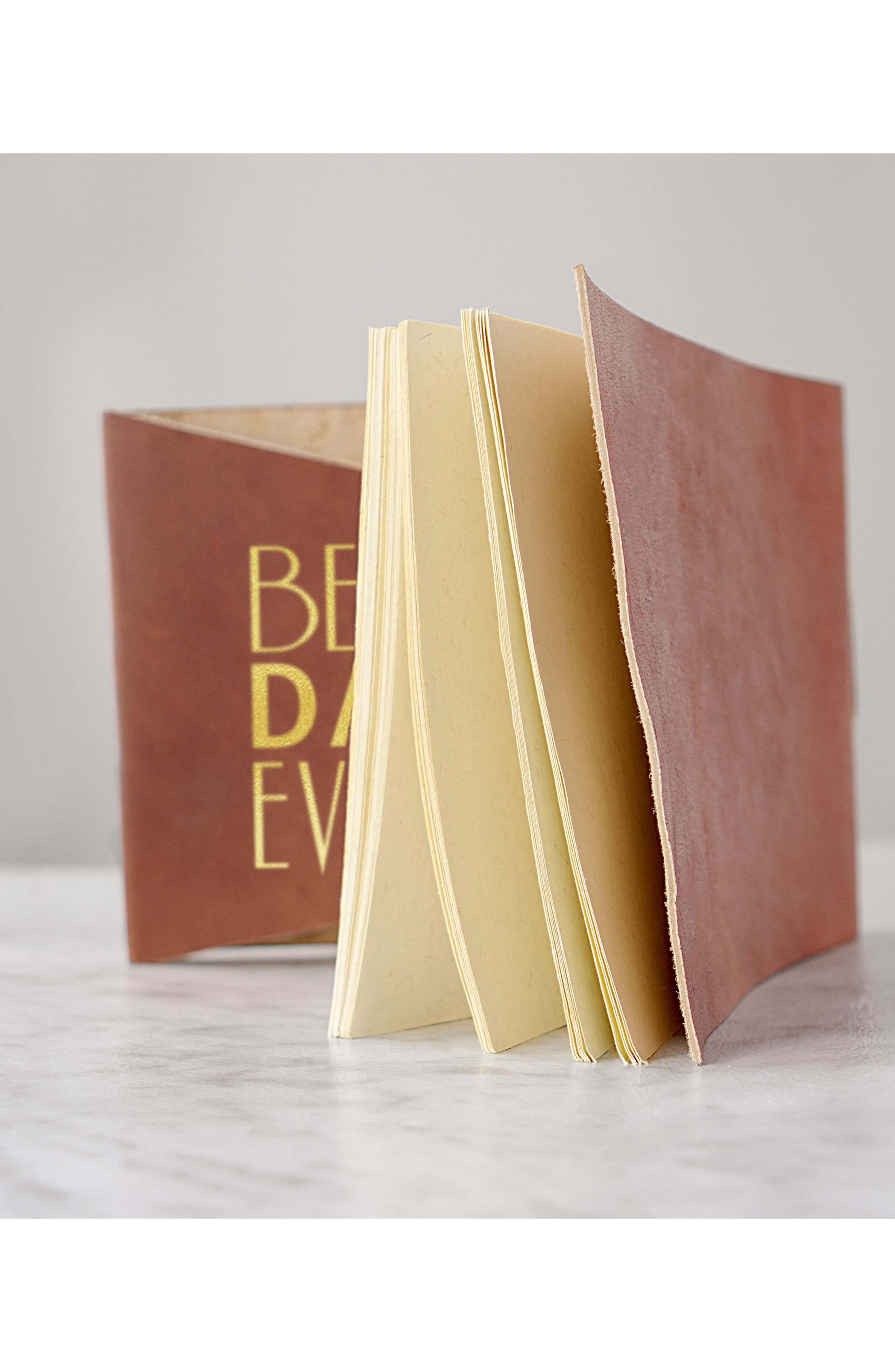 Best Day Ever Leather Guest Book,                             Alternate thumbnail 14, color,                             710