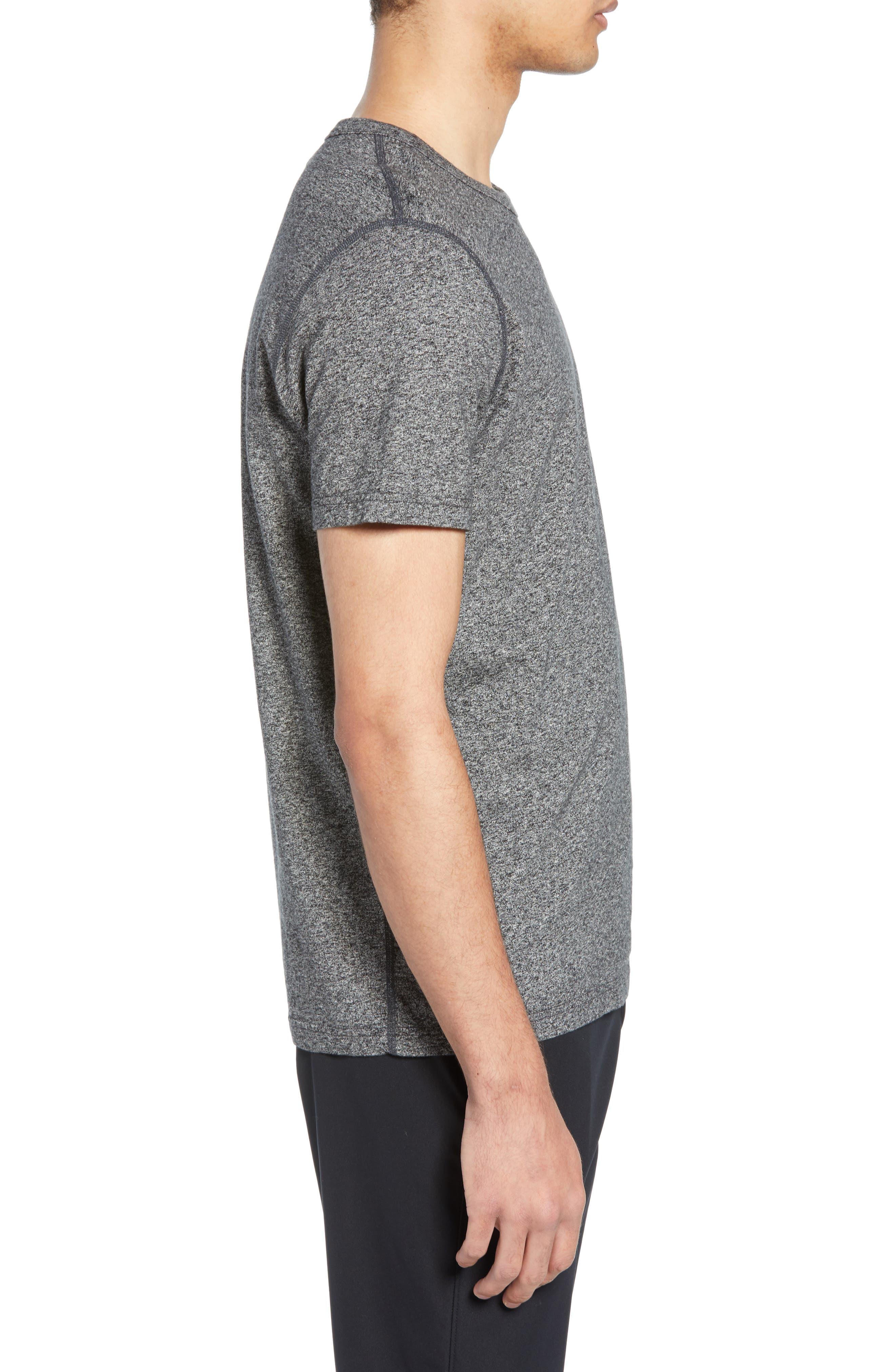REIGNING CHAMP,                             Short Sleeve Crewneck T-Shirt,                             Alternate thumbnail 3, color,                             MEDIUM BLACK