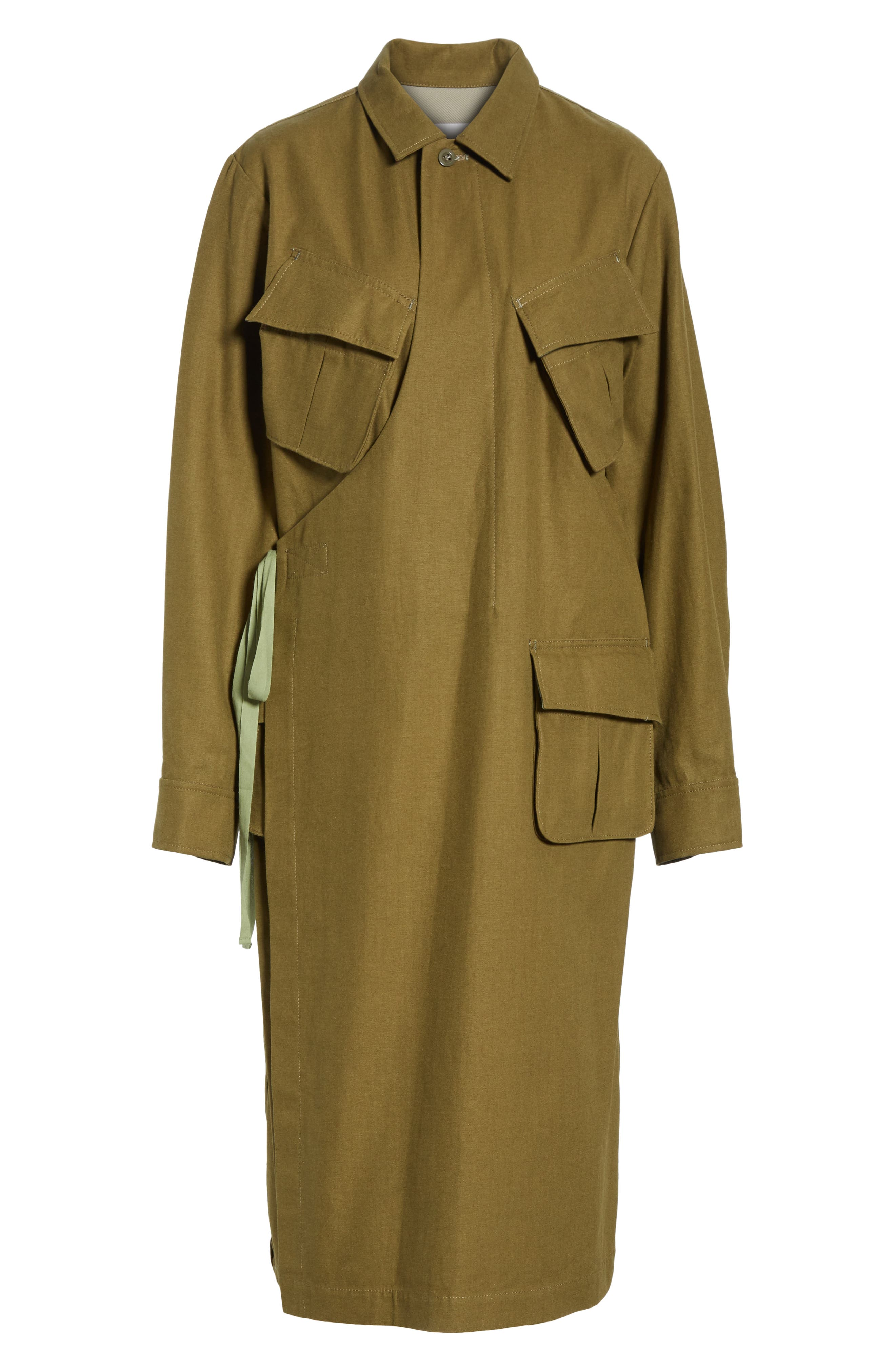 Gabardine Coat,                             Alternate thumbnail 5, color,                             09/ KHAKI