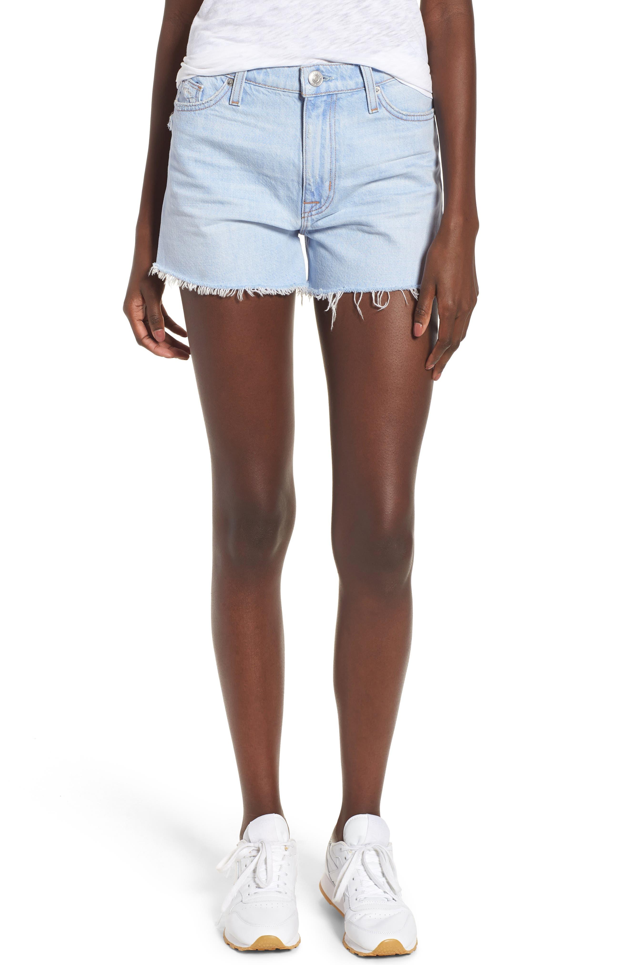 Sade Cutoff Denim Shorts,                         Main,                         color, 460