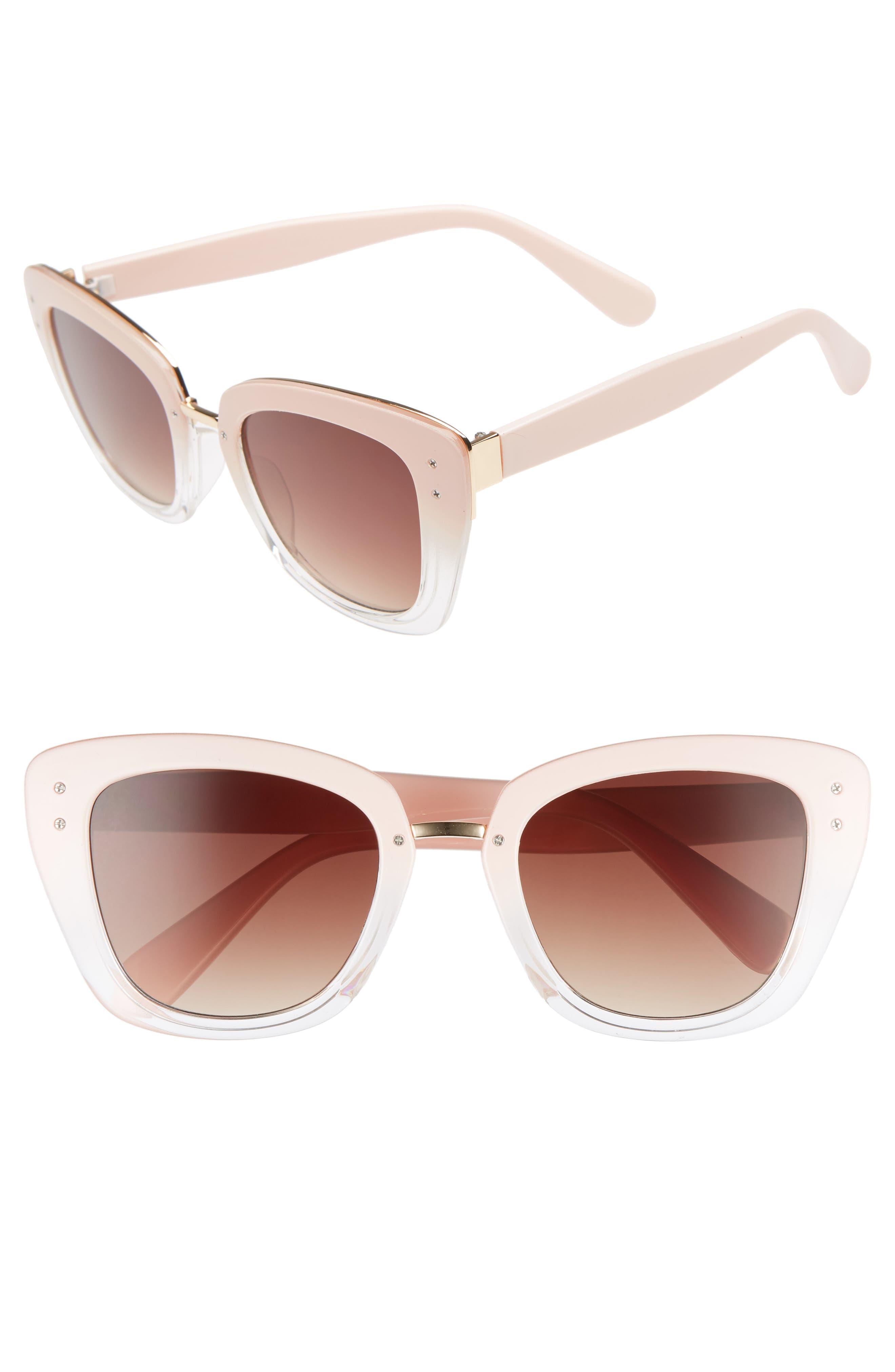 51mm Ombré Square Sunglasses,                             Main thumbnail 1, color,                             650