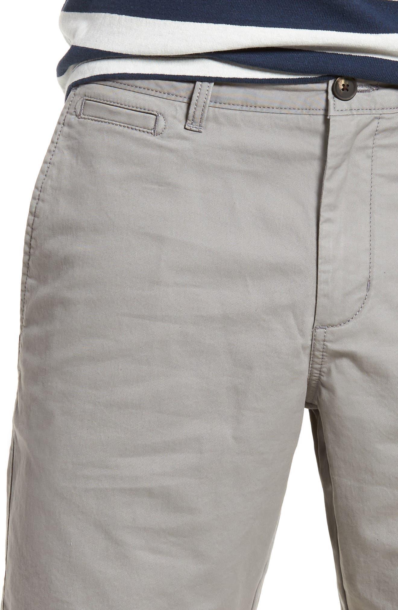 Ballard Slim Fit Stretch Chino 9-Inch Shorts,                             Alternate thumbnail 4, color,                             030
