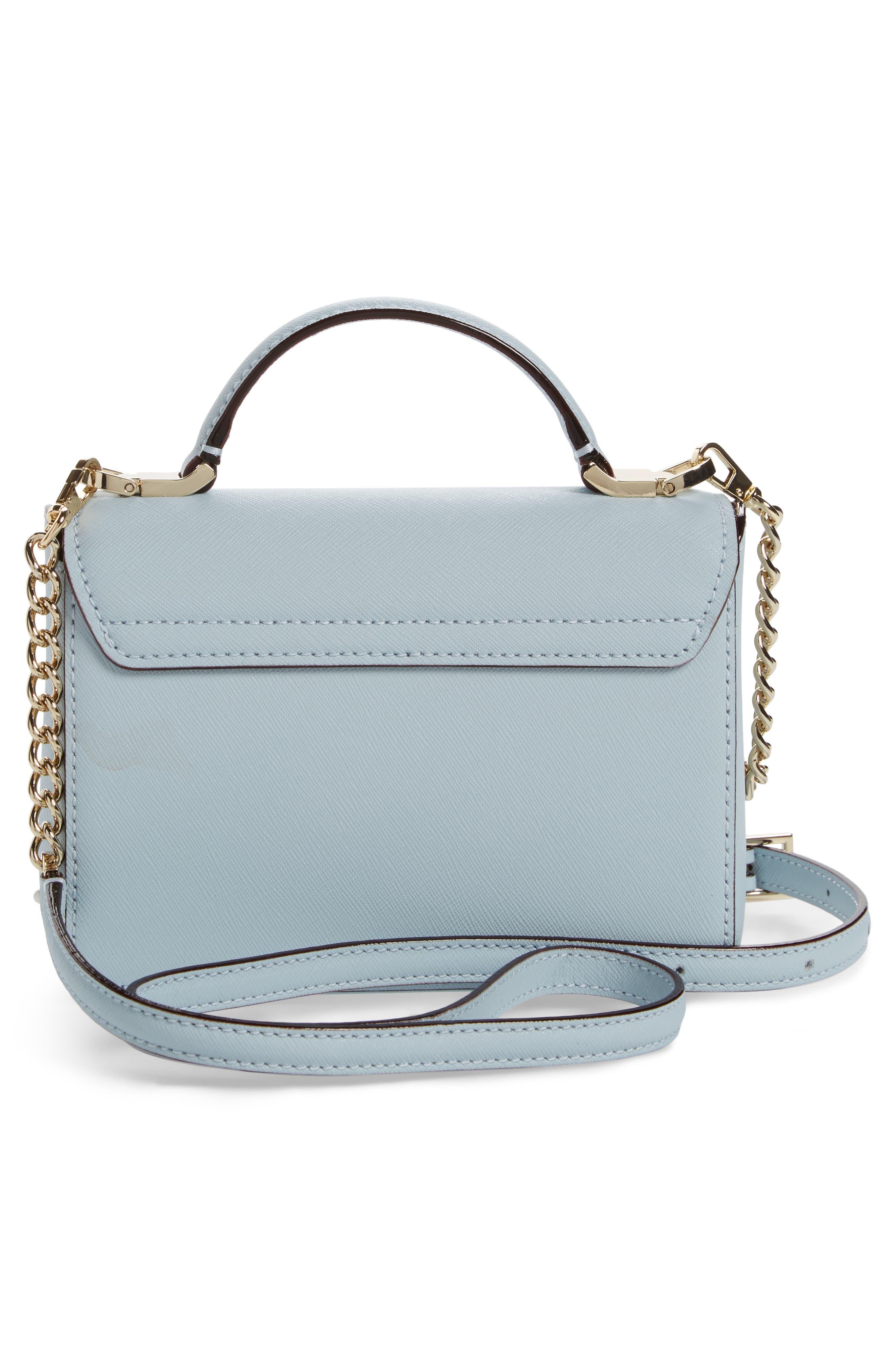 cameron street - hope saffiano leather crossbody bag,                             Alternate thumbnail 8, color,