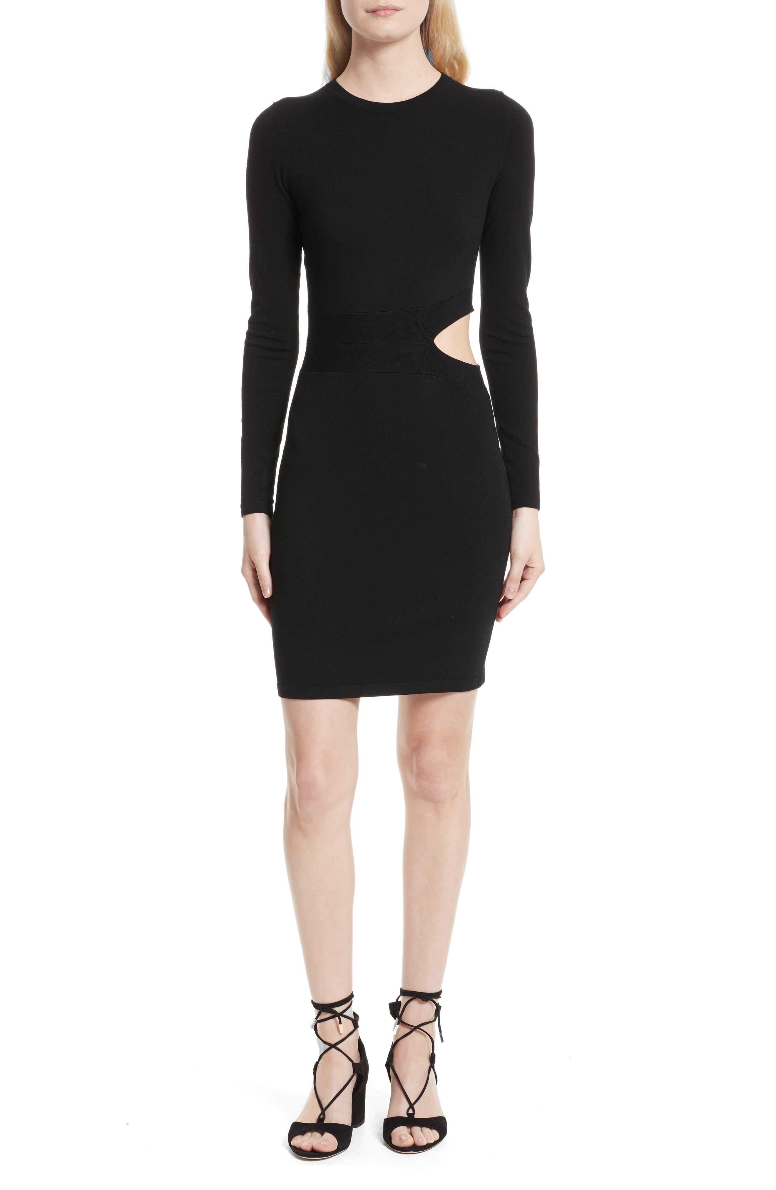 Railey Cutout Dress,                             Main thumbnail 1, color,                             001