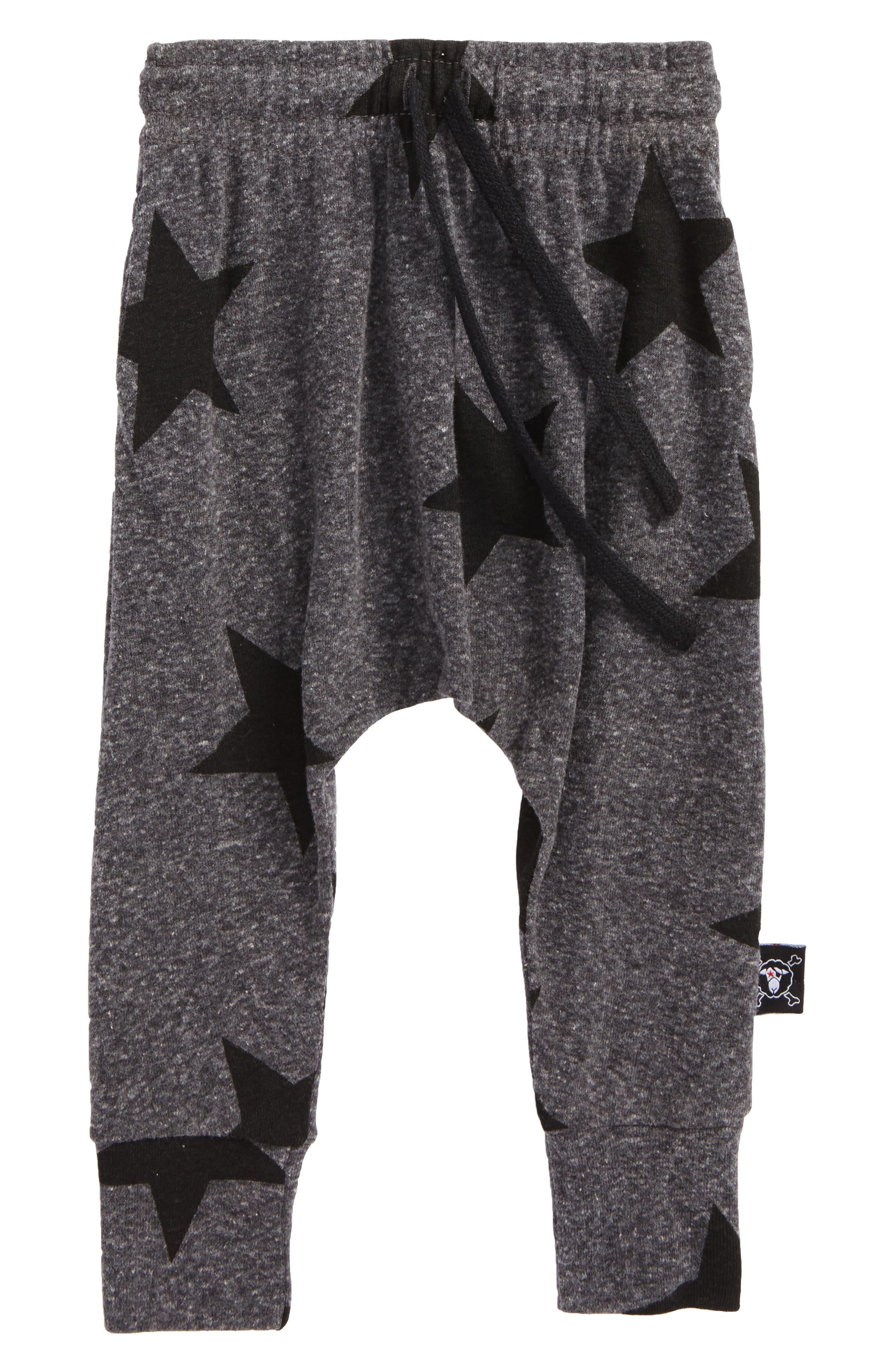 Star Print Baggy Pants,                             Main thumbnail 1, color,                             020